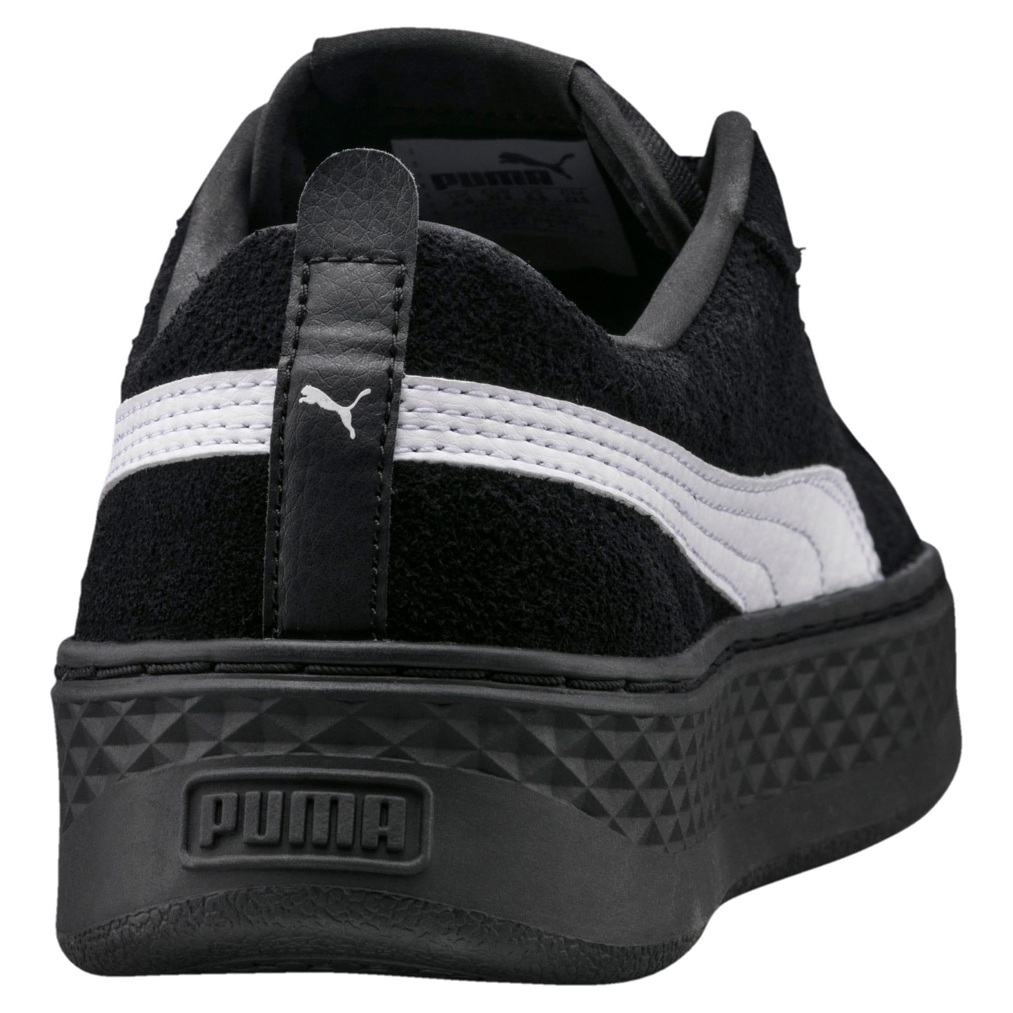 Thumbnail 2 of Smash Platform Suede Women's Trainers, Puma Black-Puma White, medium-IND