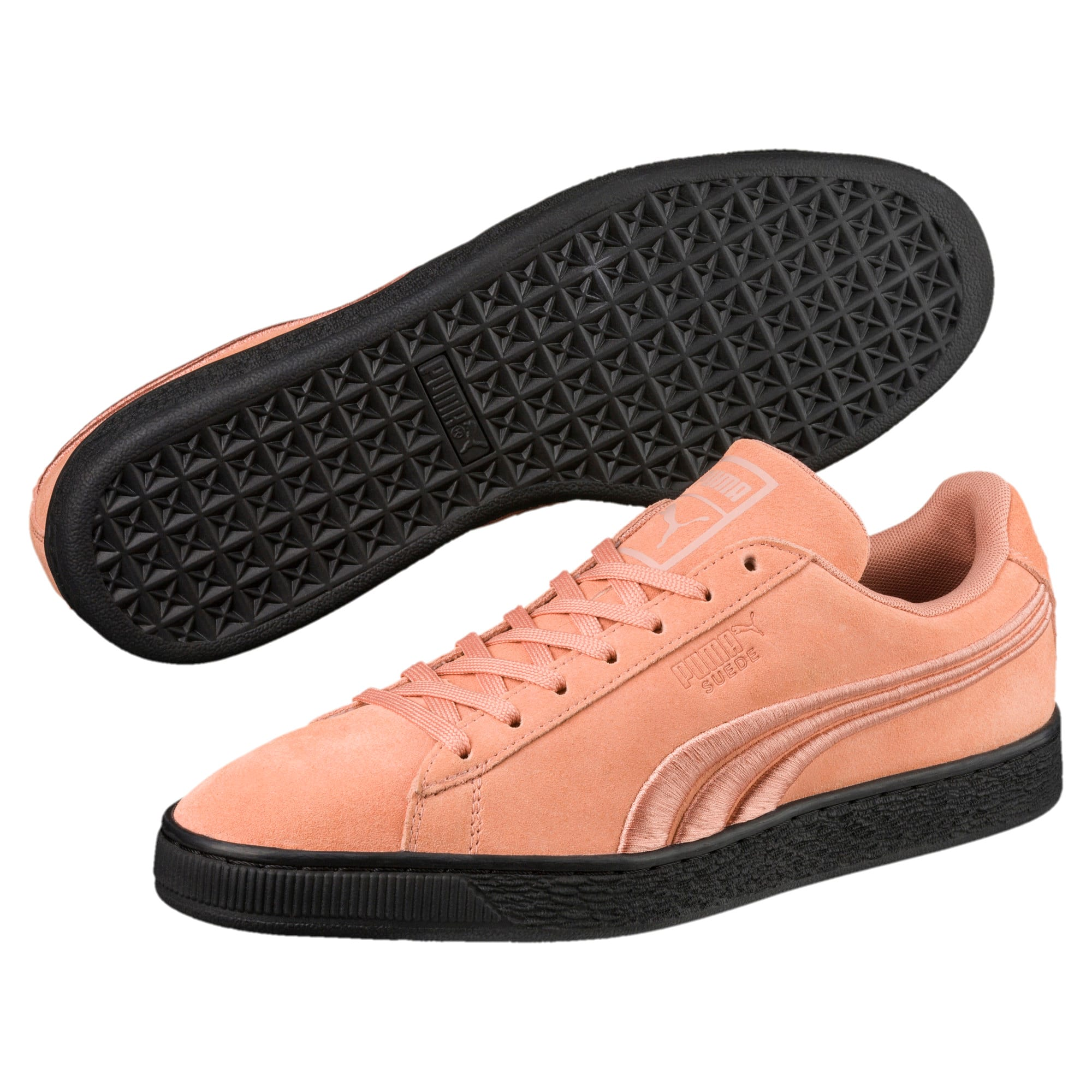 Thumbnail 2 of Suede Classic Badge Flip Sneakers, Muted Clay-Puma Black, medium
