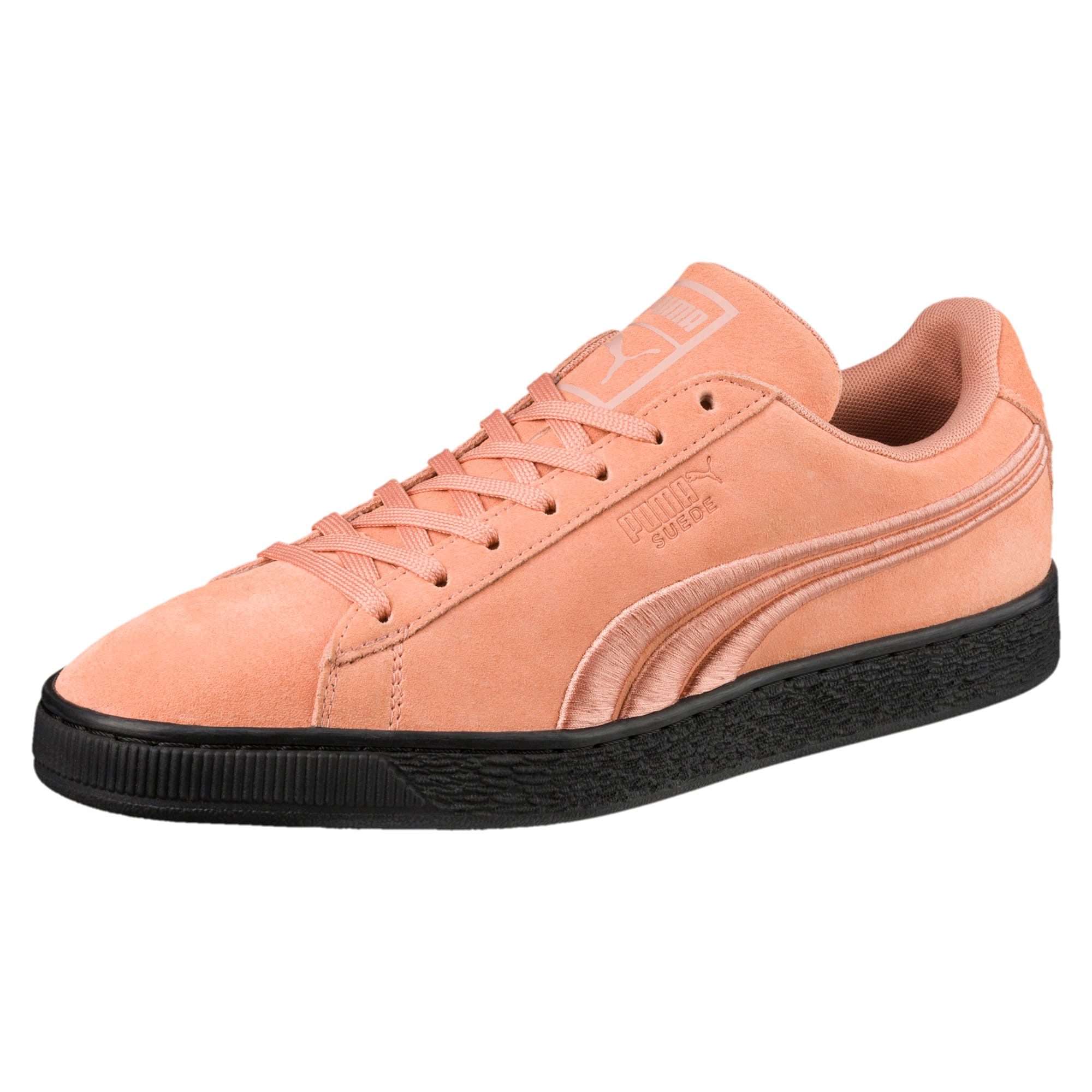 Thumbnail 1 of Suede Classic Badge Flip Sneakers, Muted Clay-Puma Black, medium