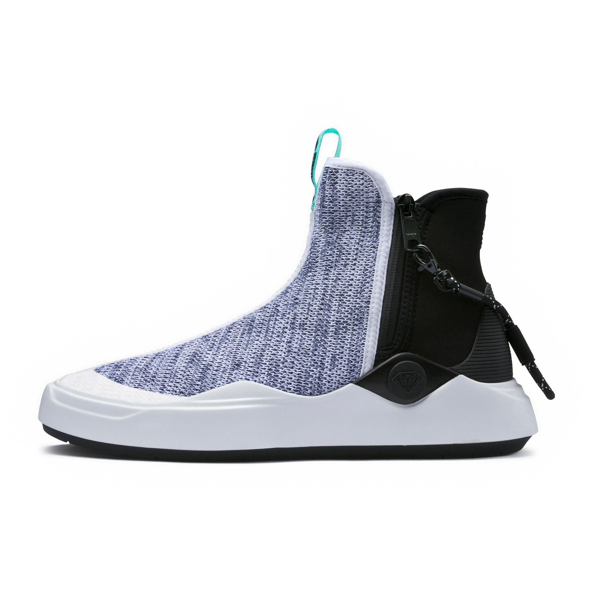 Thumbnail 1 of PUMA x DIAMOND Abyss Knit Sneakers, Puma White-Puma Black, medium