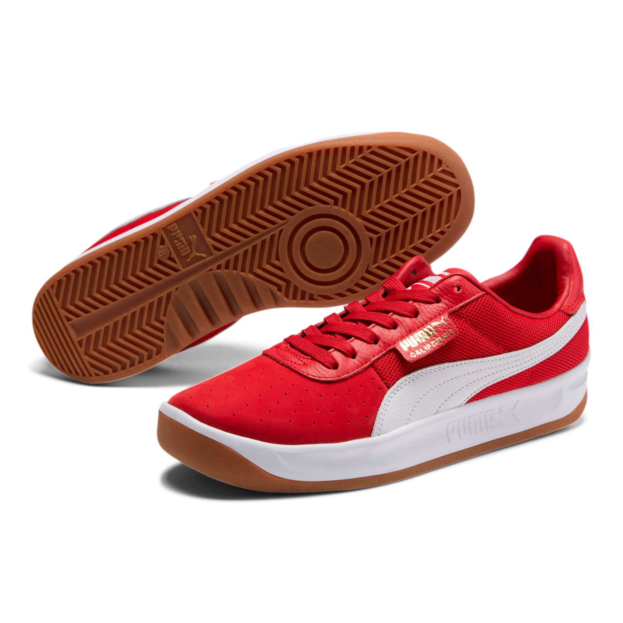 Thumbnail 2 of California Casual Sneakers, Ribbon Red-Puma White, medium