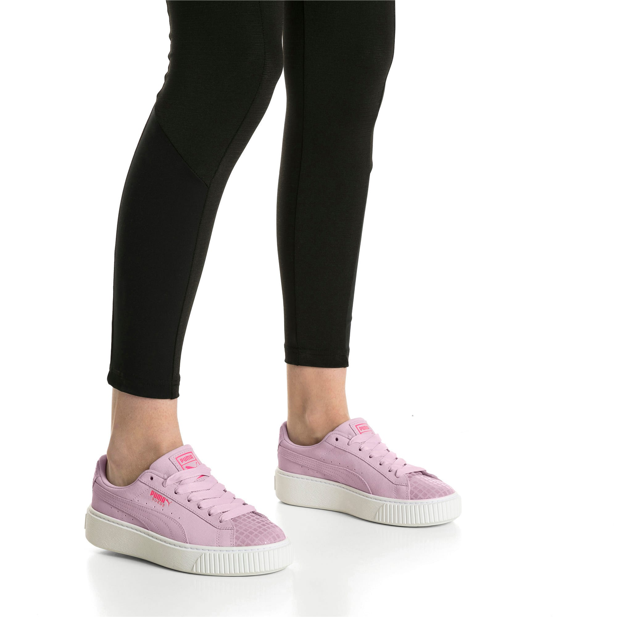 Thumbnail 7 of Suede Platform Street 2 Women's Trainers, Winsome Orchid, medium-IND