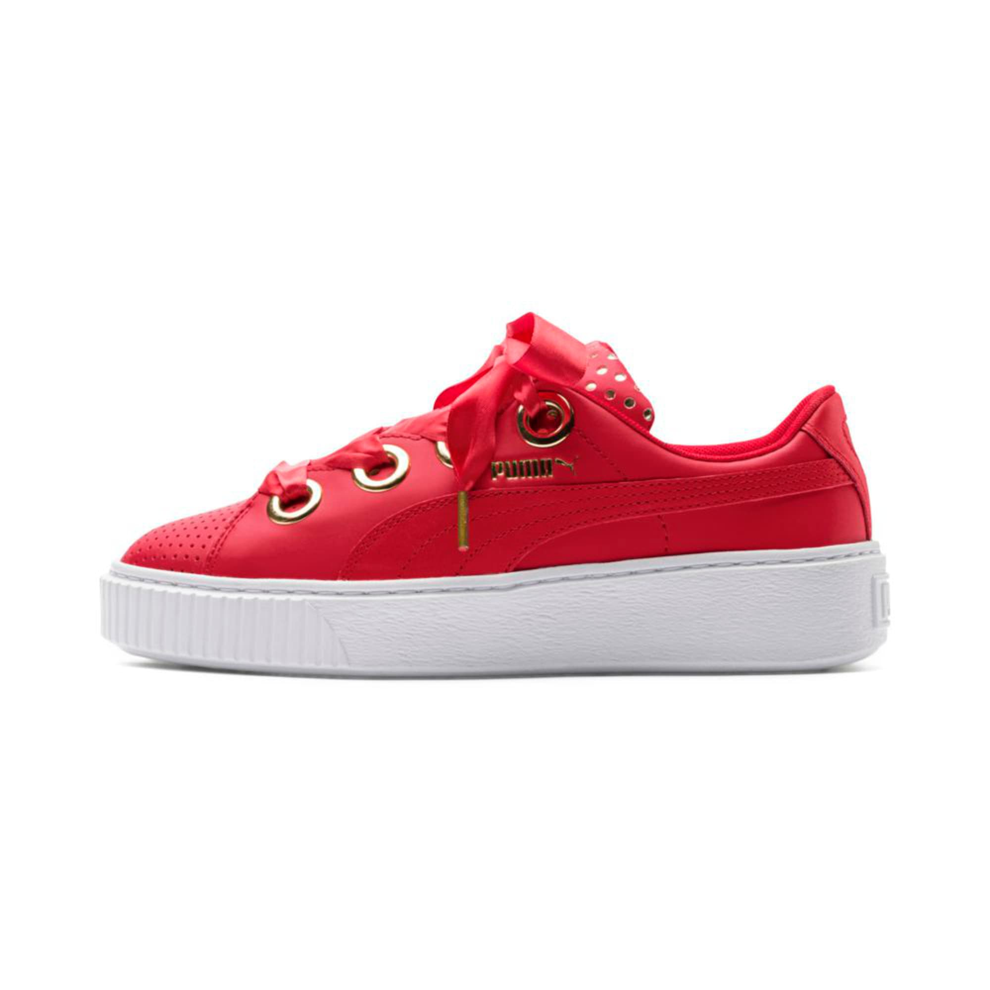Thumbnail 1 of Platform Kiss Ath Lux Women's Trainers, Ribbon Red-Ribbon Red, medium-IND