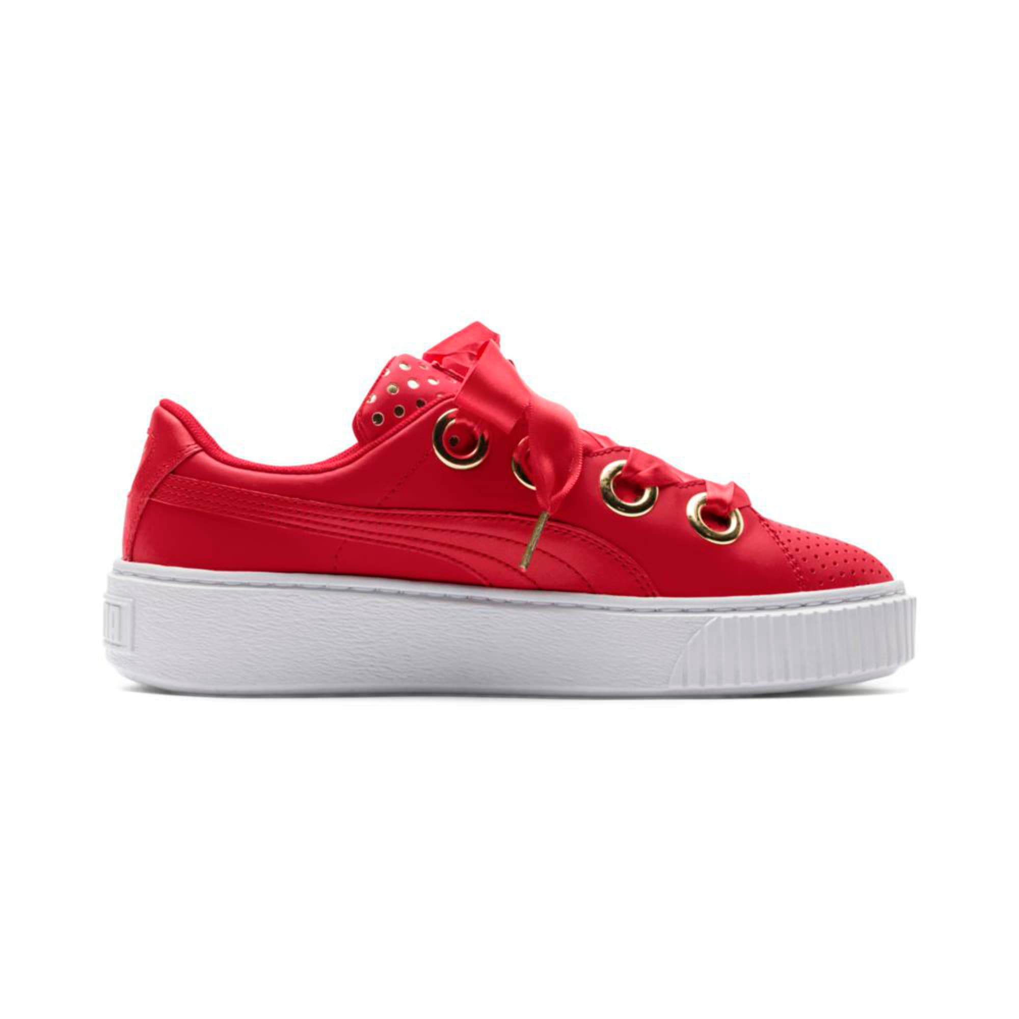 Thumbnail 5 of Platform Kiss Ath Lux Women's Trainers, Ribbon Red-Ribbon Red, medium-IND