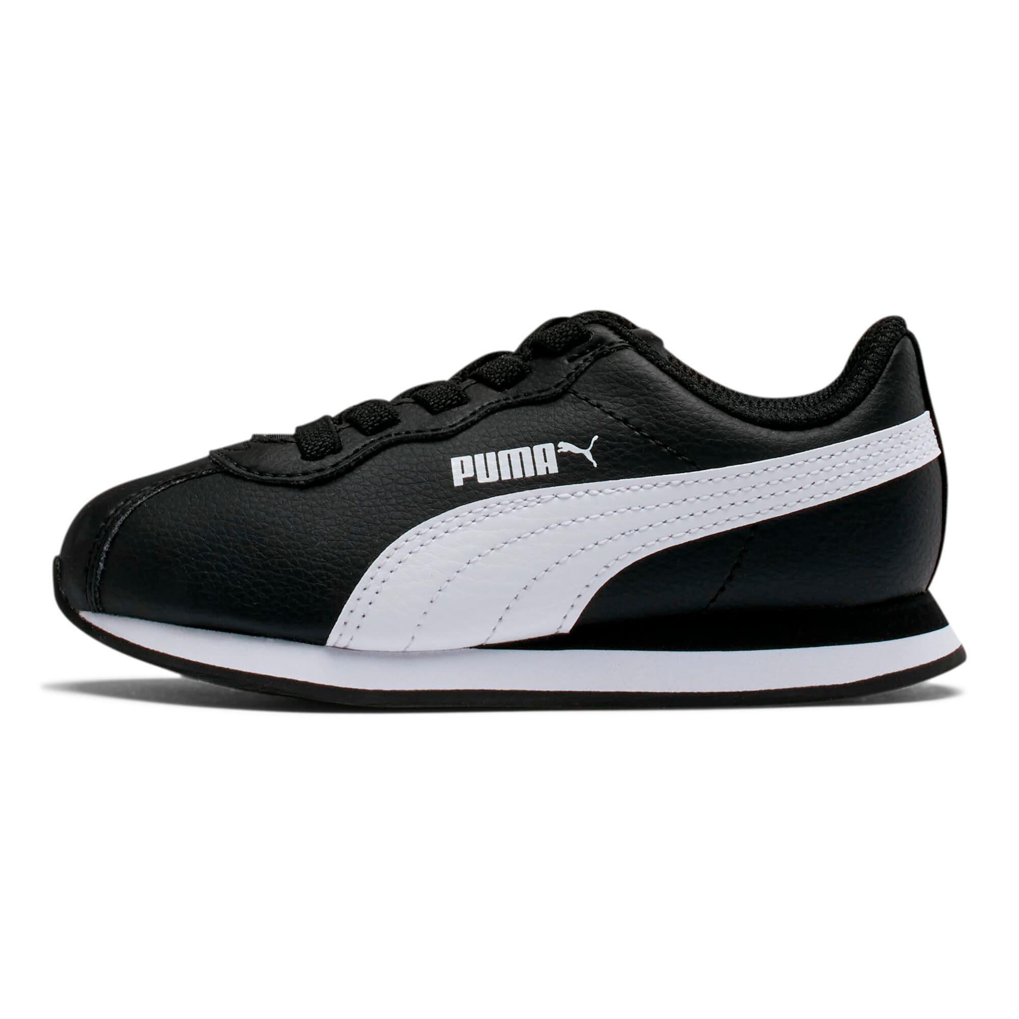 Thumbnail 1 of Turin II AC Kids' Trainers, Puma Black-Puma White, medium-IND