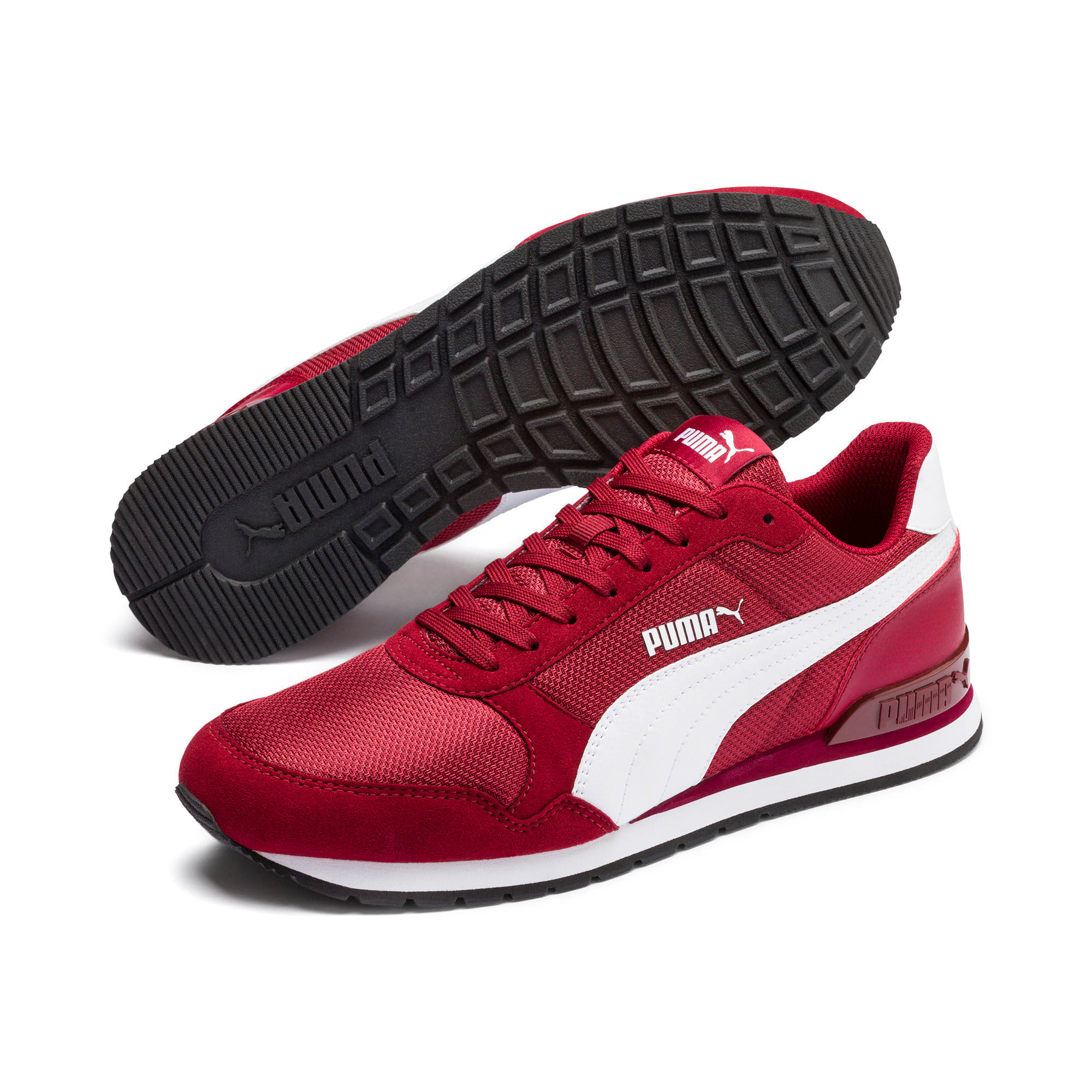 Thumbnail 3 of ST Runner v2 Mesh Sneakers, Rhubarb-Puma White, medium