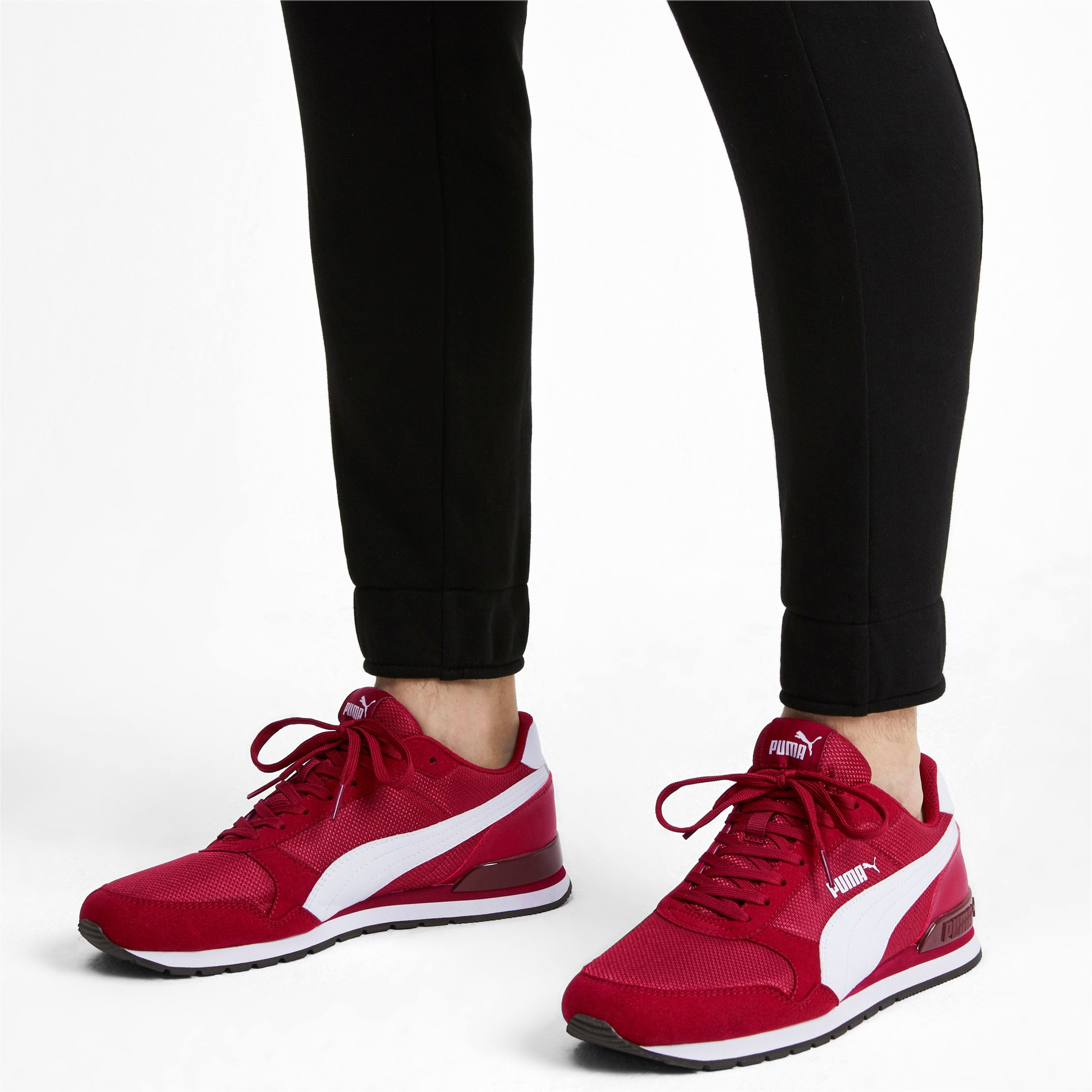 Thumbnail 2 of ST Runner v2 Mesh Sneakers, Rhubarb-Puma White, medium