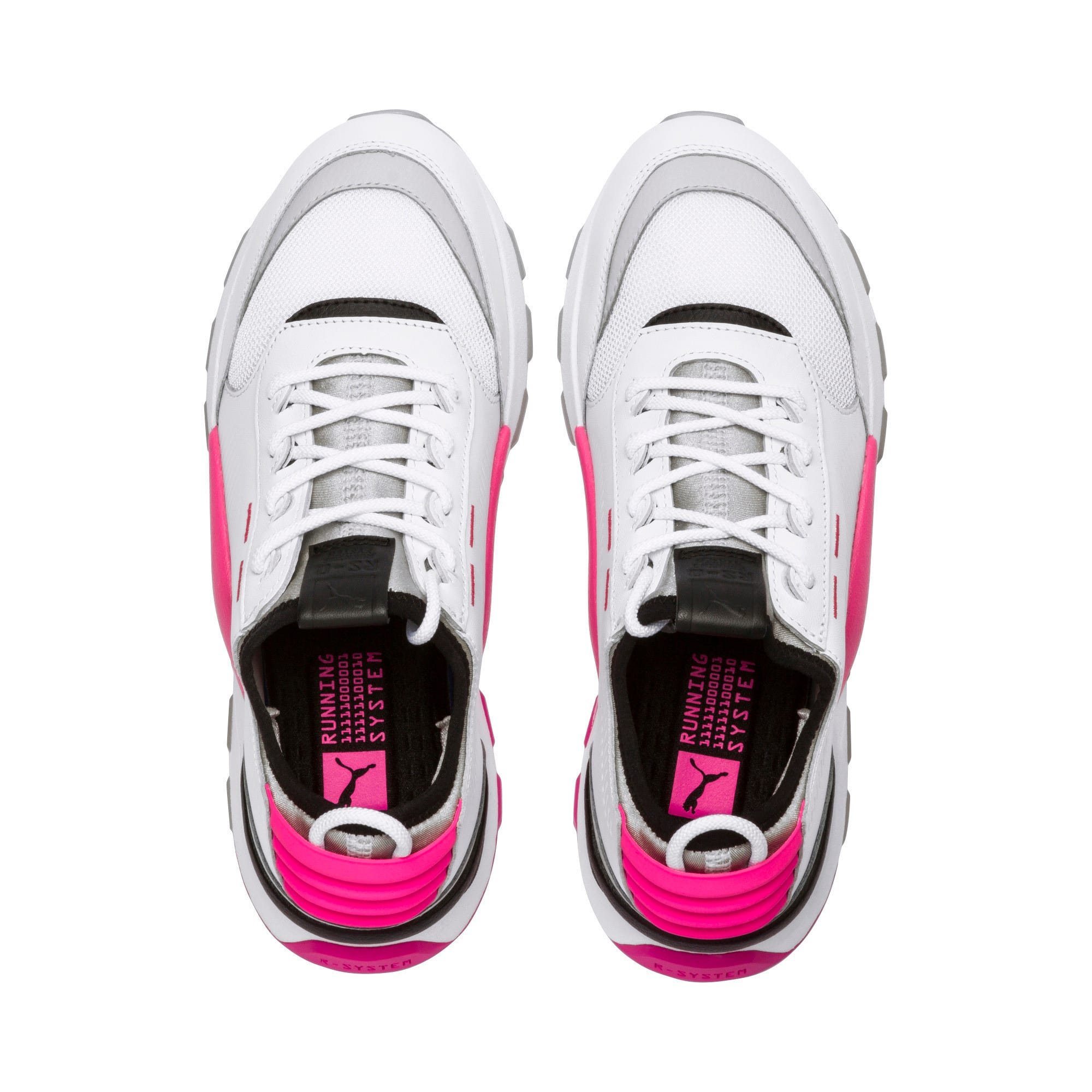 Thumbnail 3 of Evolution RS-0 SOUND Trainers, Wht-GrayViolet-KNOCKOUTPINK, medium-IND
