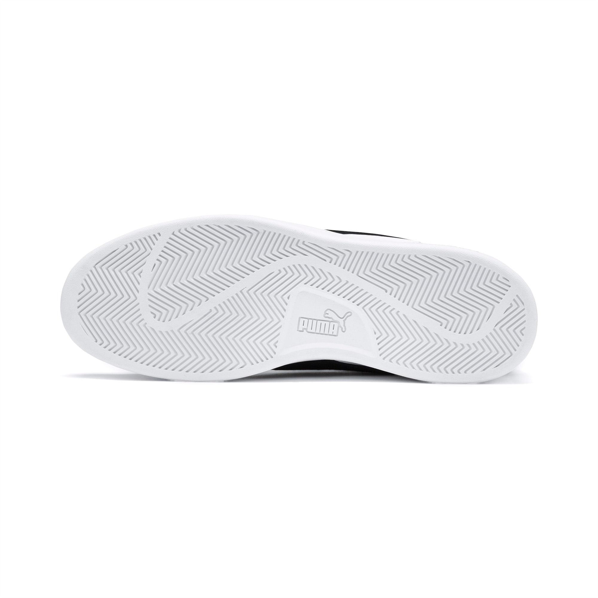 Smash v2 Mid Cut Sneaker | White Black Gold High Rise | PUMA