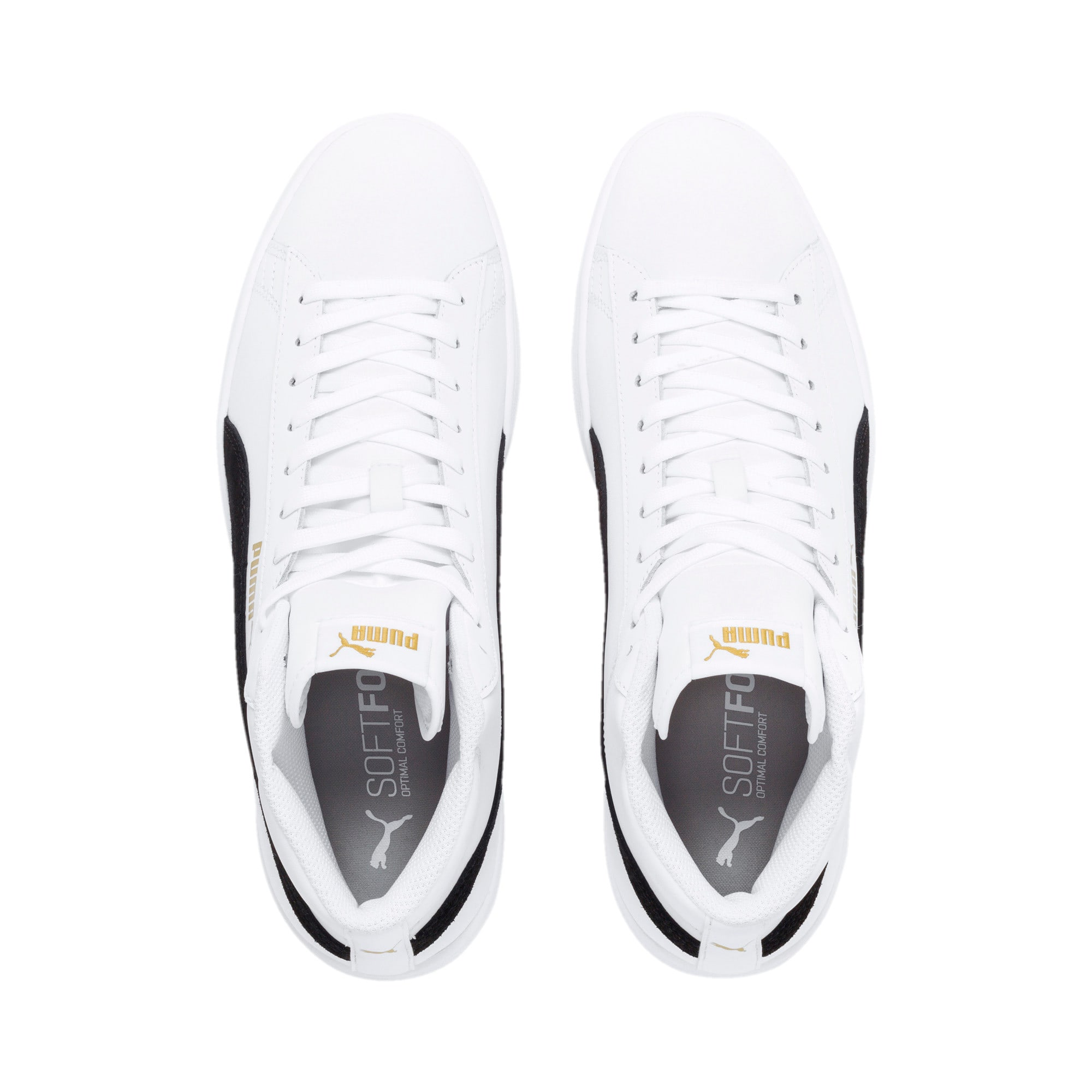 Thumbnail 8 of Smash v2 Mid-Cut Trainers, White-Black-Gold-High Rise, medium-IND