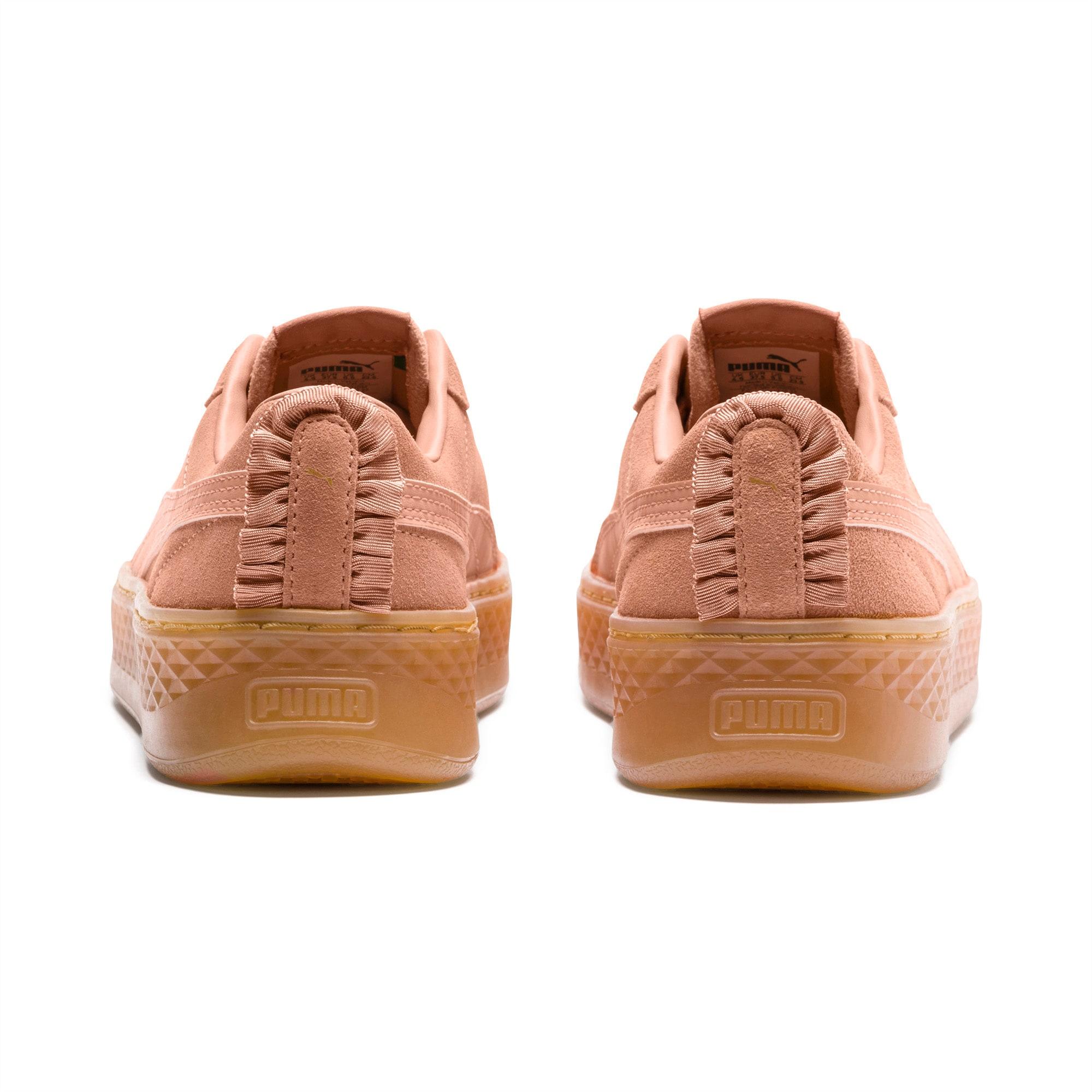PUMA, Smash Platform Frill Sneakers Low, creme | mirapodo