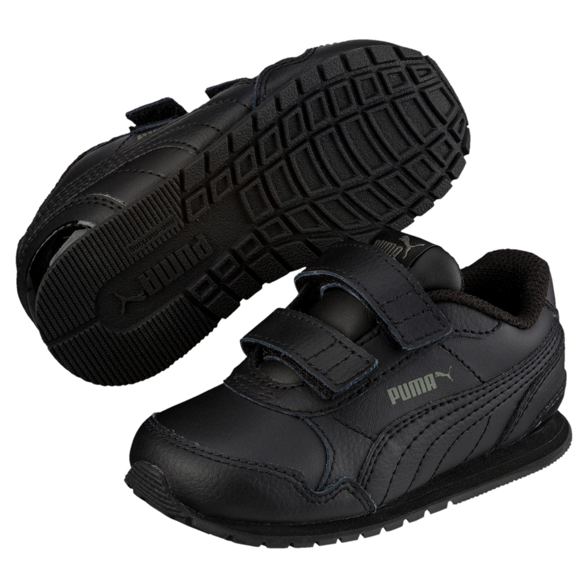 Thumbnail 2 of ST Runner v2 AC Little Kids' Shoes, Puma Black-Dark Shadow, medium