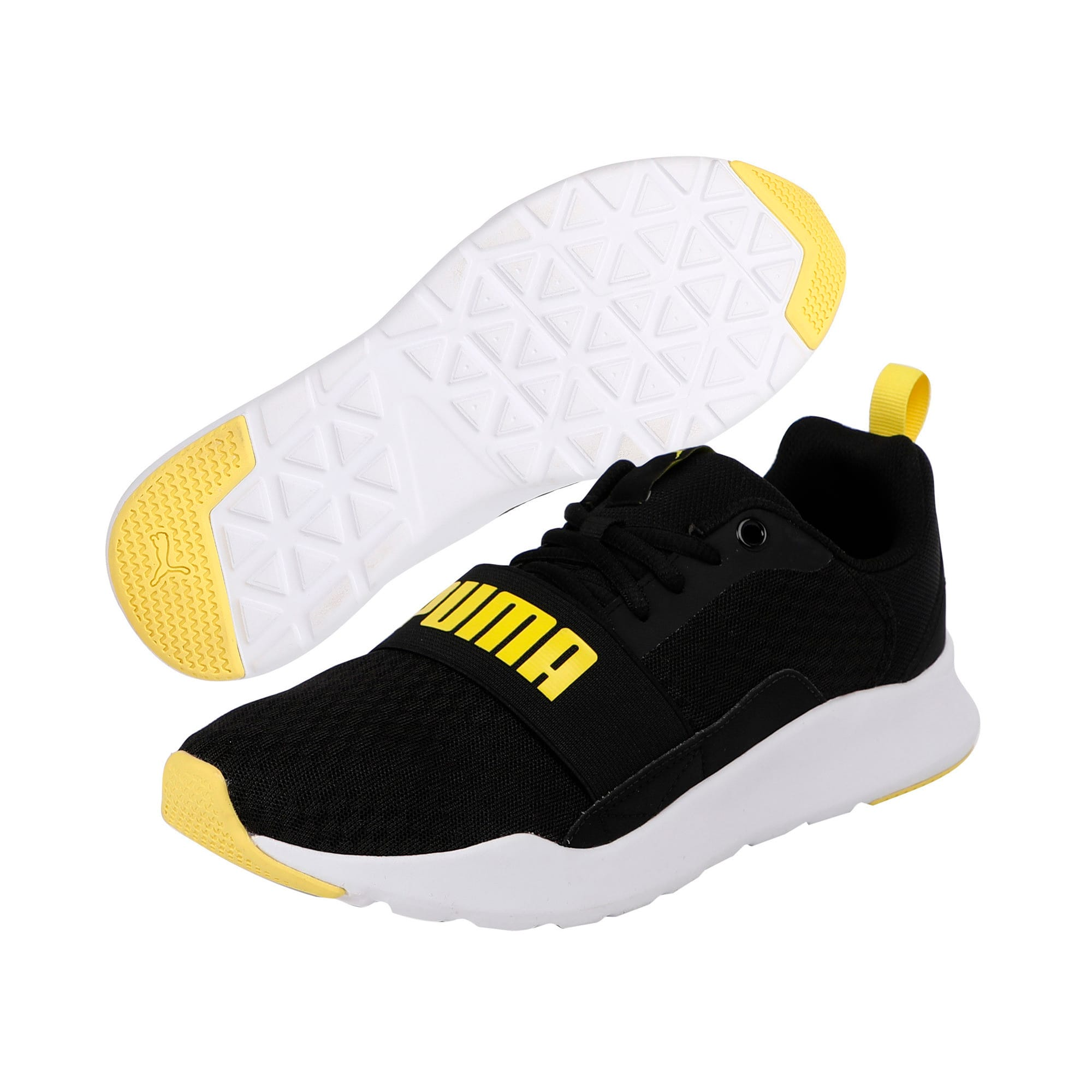 Thumbnail 2 of Wired Trainers, Puma Black-Blazing Yellow, medium-IND