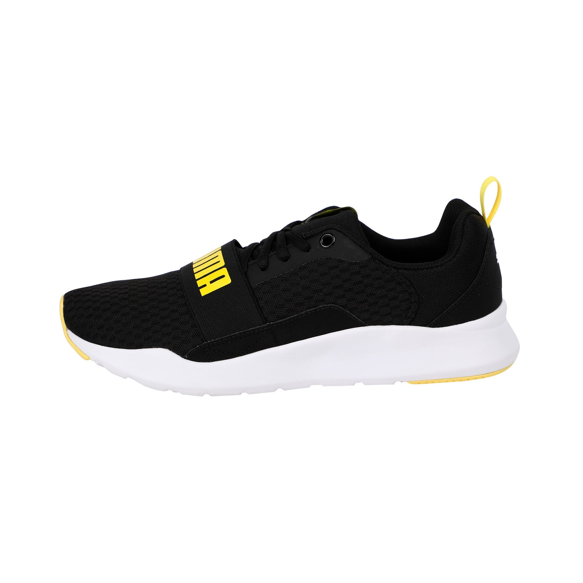 Thumbnail 1 of Wired Trainers, Puma Black-Blazing Yellow, medium-IND
