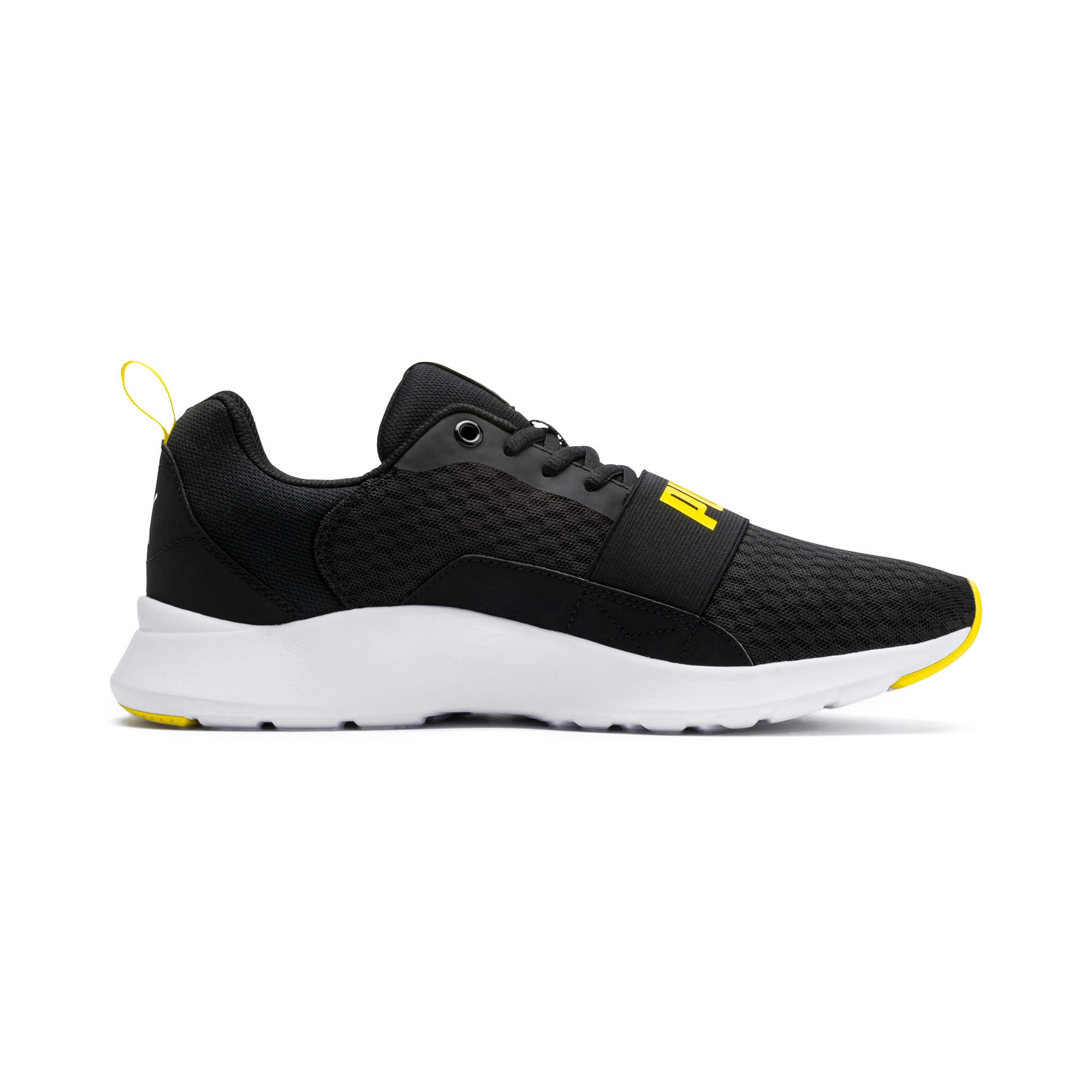 Thumbnail 5 of Wired Trainers, Puma Black-Blazing Yellow, medium-IND