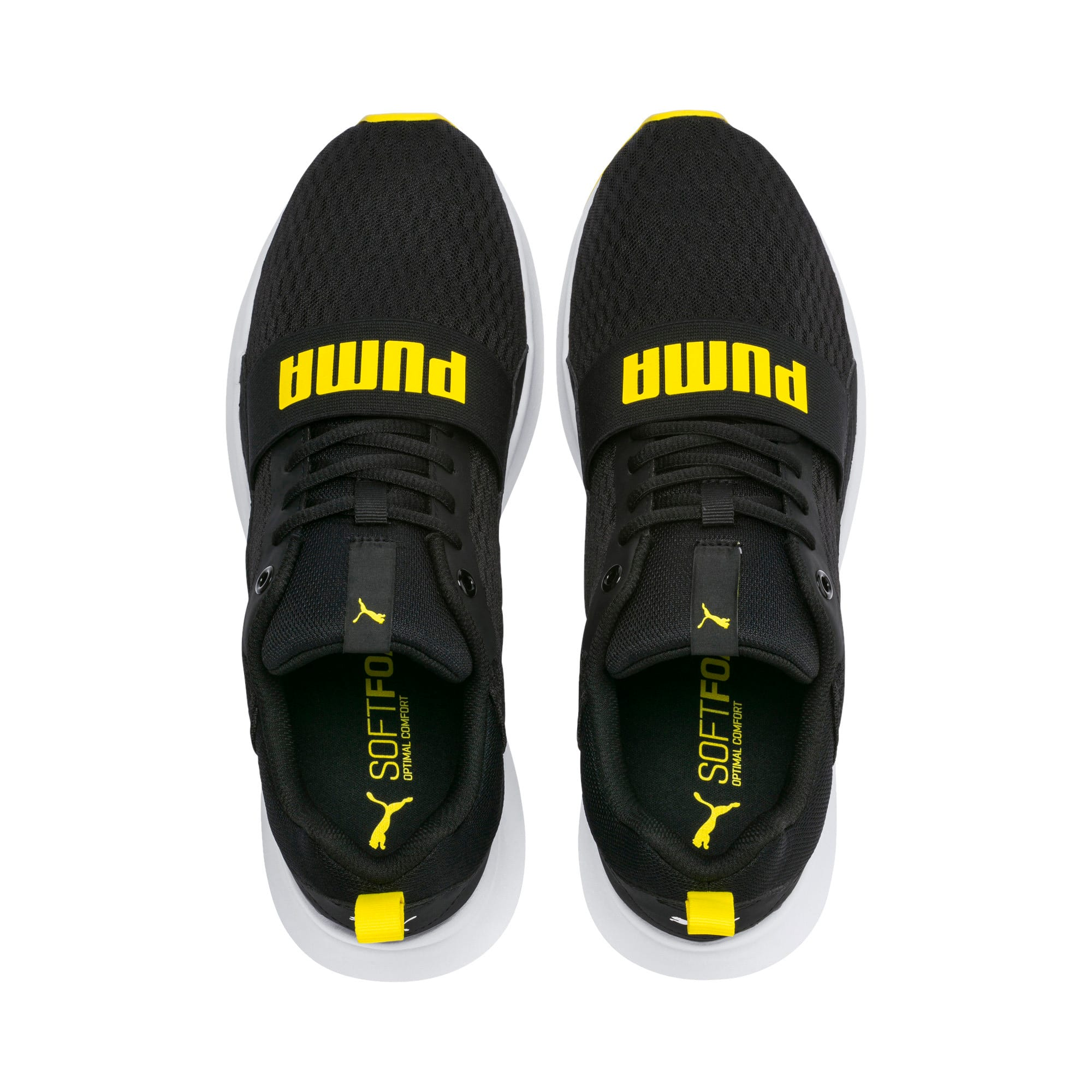 Thumbnail 6 of Wired Trainers, Puma Black-Blazing Yellow, medium-IND