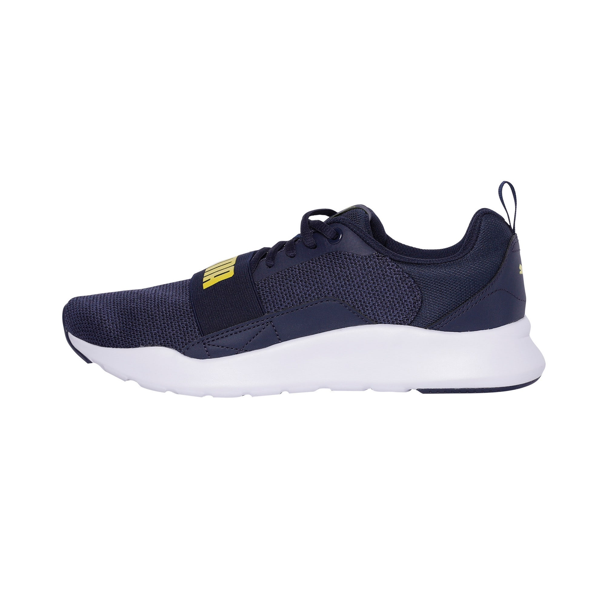 Thumbnail 1 of Wired Knit Trainers, Peacoat-Blazing Yellow, medium-IND