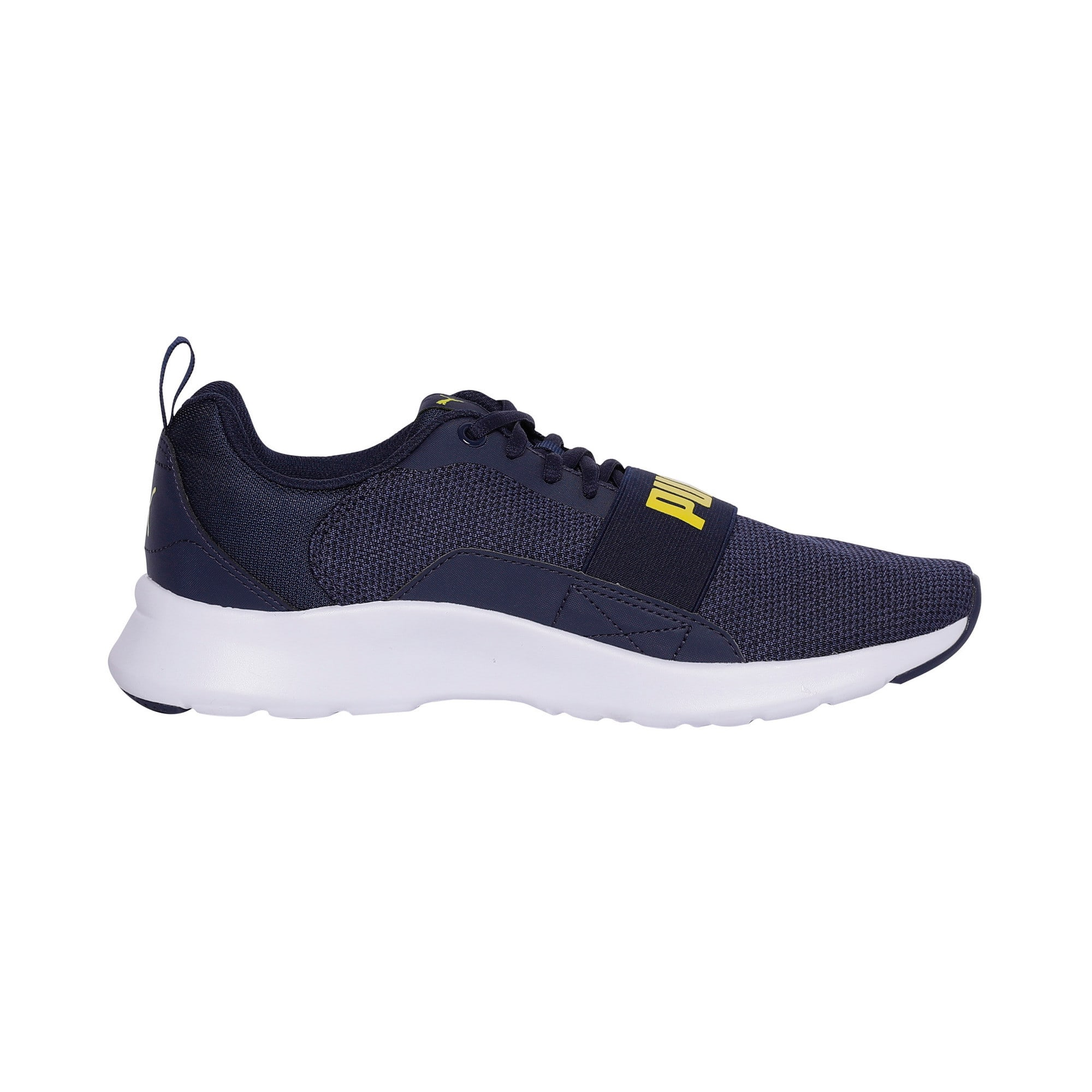 Thumbnail 5 of Wired Knit Trainers, Peacoat-Blazing Yellow, medium-IND