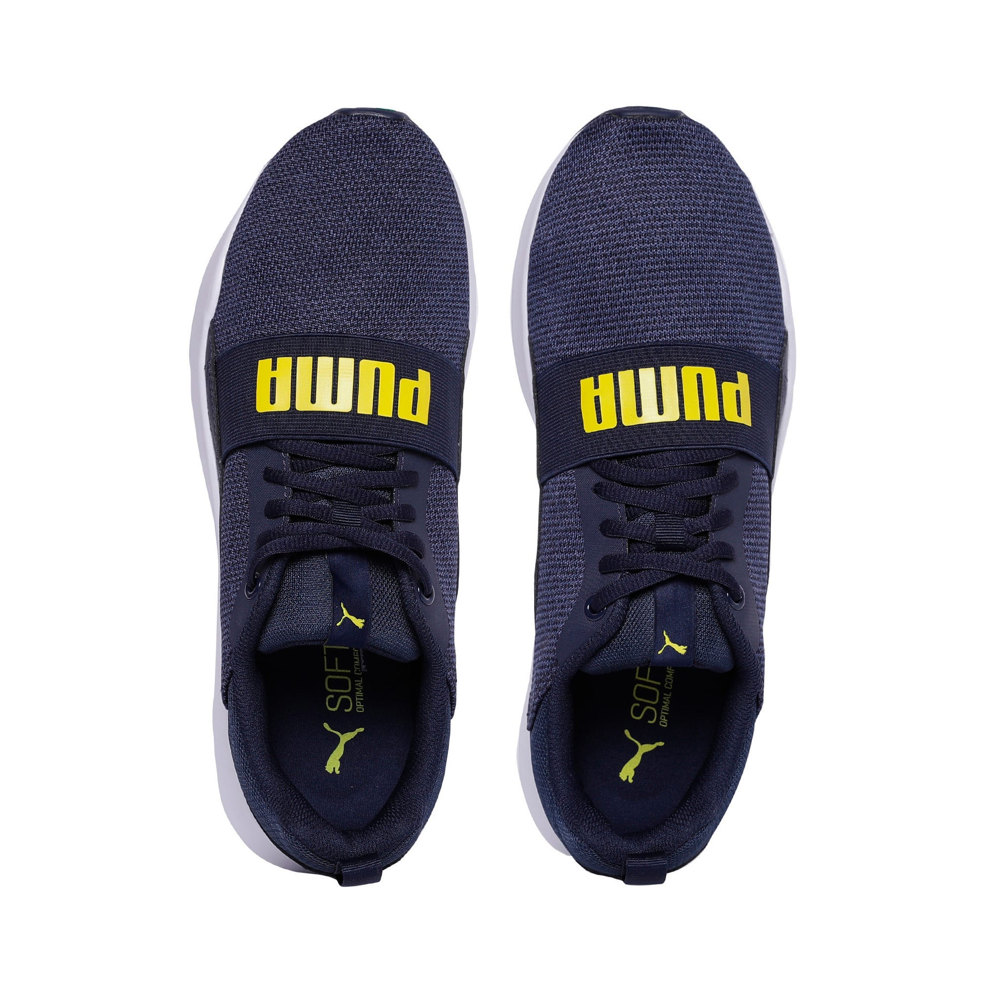 Thumbnail 6 of Wired Knit Trainers, Peacoat-Blazing Yellow, medium-IND