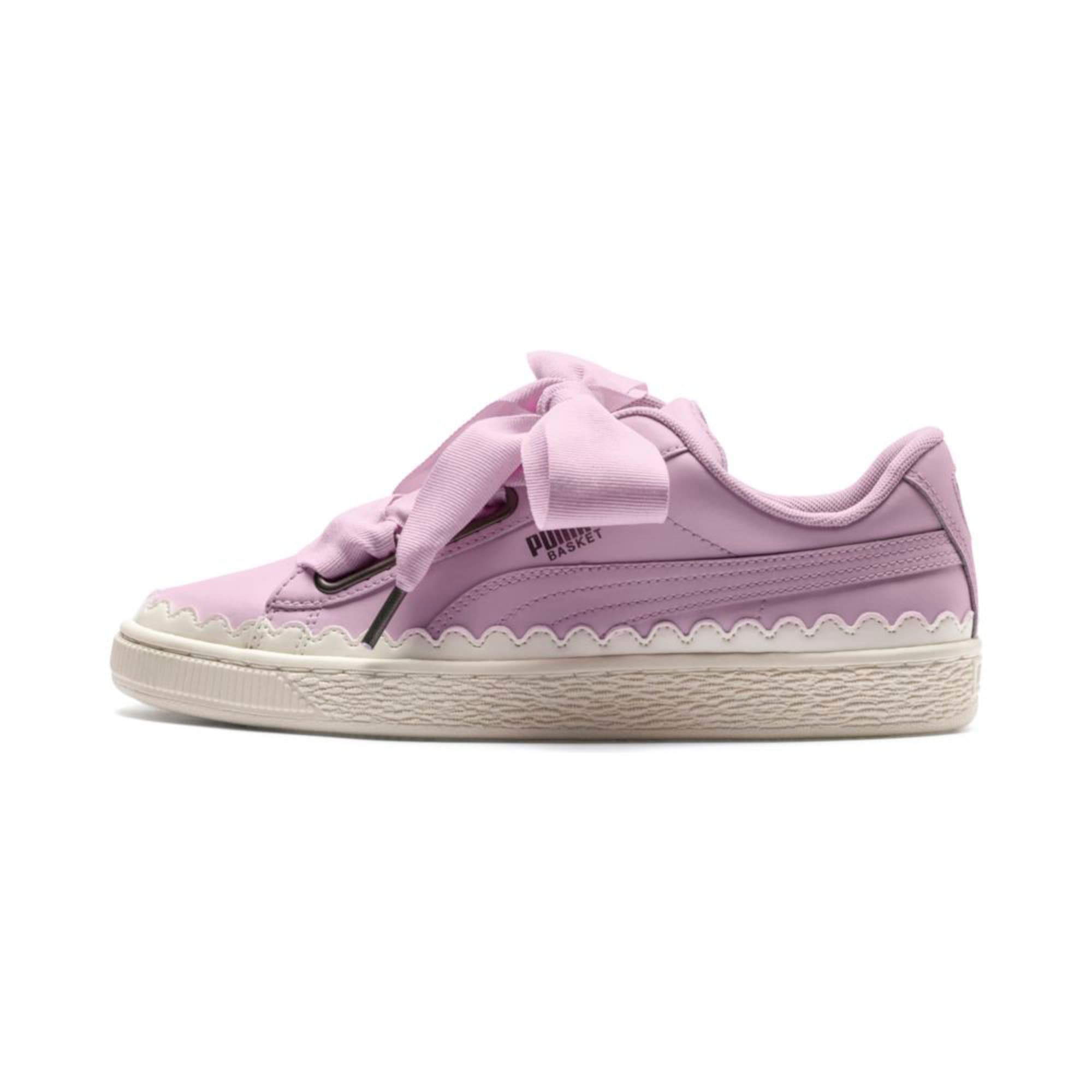 Thumbnail 1 of Basket Heart Scallop Women's Trainers, Winsome Orchid, medium-IND