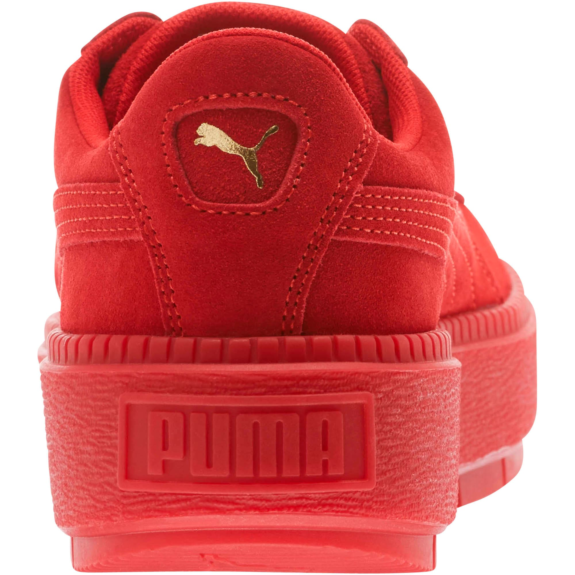 Thumbnail 4 of Suede Platform Trace Valentine's Day Women's Sneakers, Red Dahlia-Barbados Cherry, medium