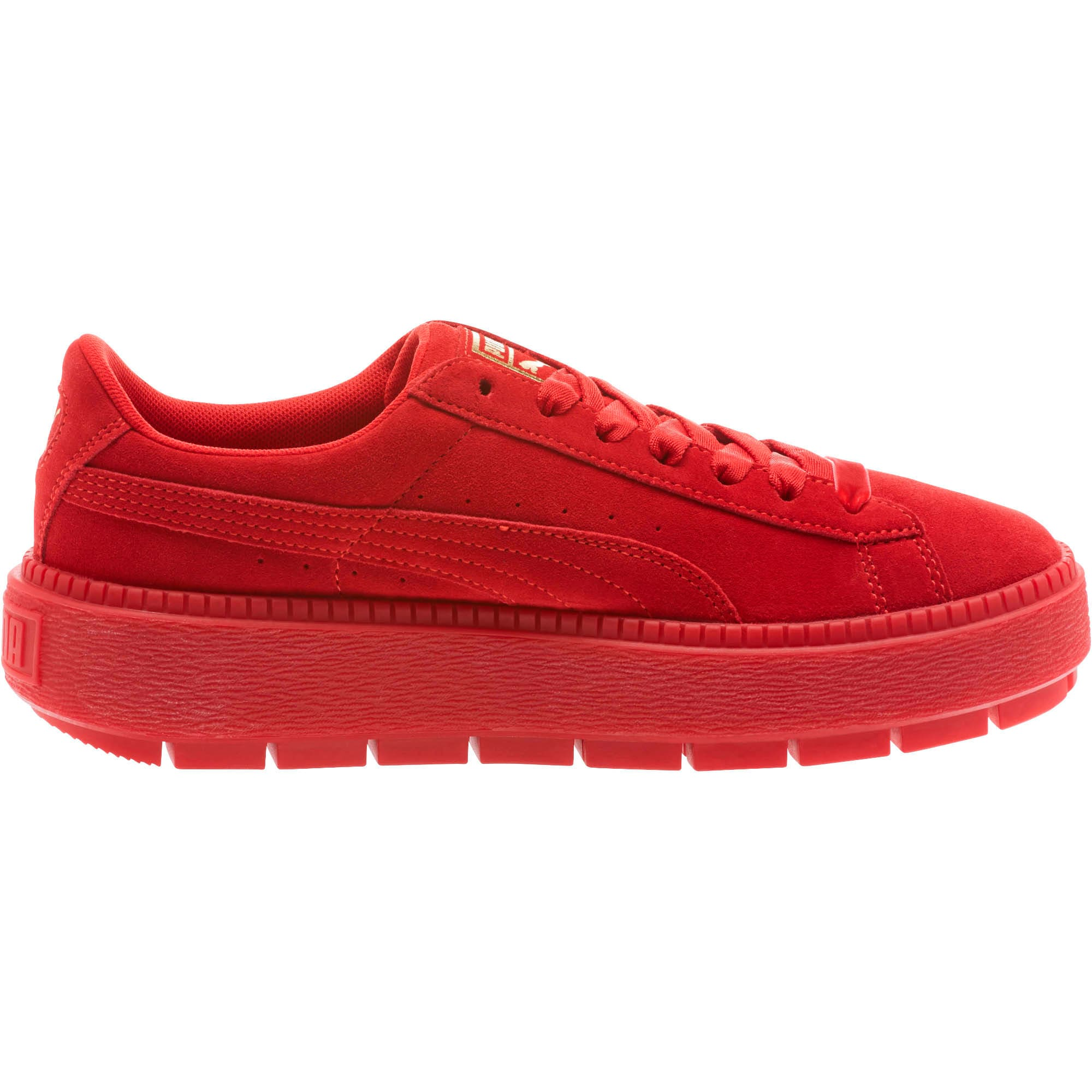 Thumbnail 3 of Suede Platform Trace Valentine's Day Women's Sneakers, Red Dahlia-Barbados Cherry, medium
