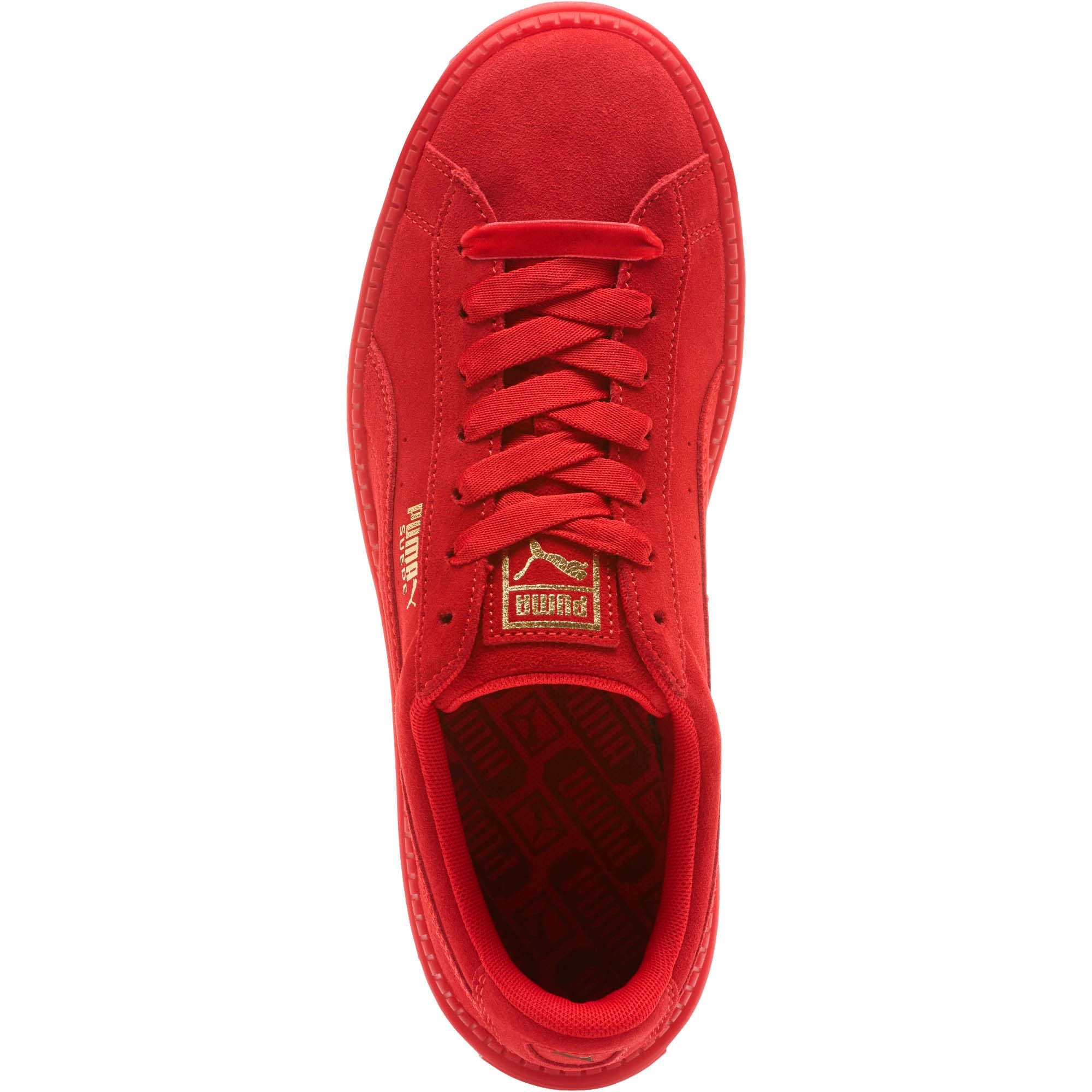 Thumbnail 5 of Suede Platform Trace Valentine's Day Women's Sneakers, Red Dahlia-Barbados Cherry, medium