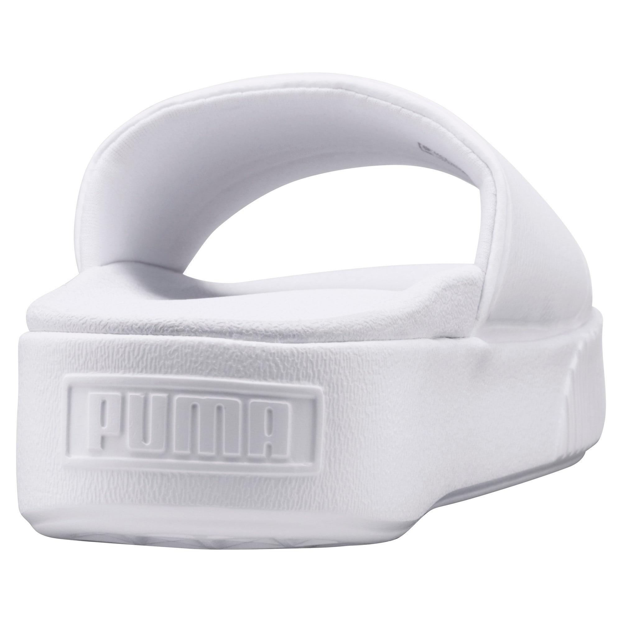 Thumbnail 3 of Platform Slide Bold Women's Sandals, Puma White-Puma White, medium-IND