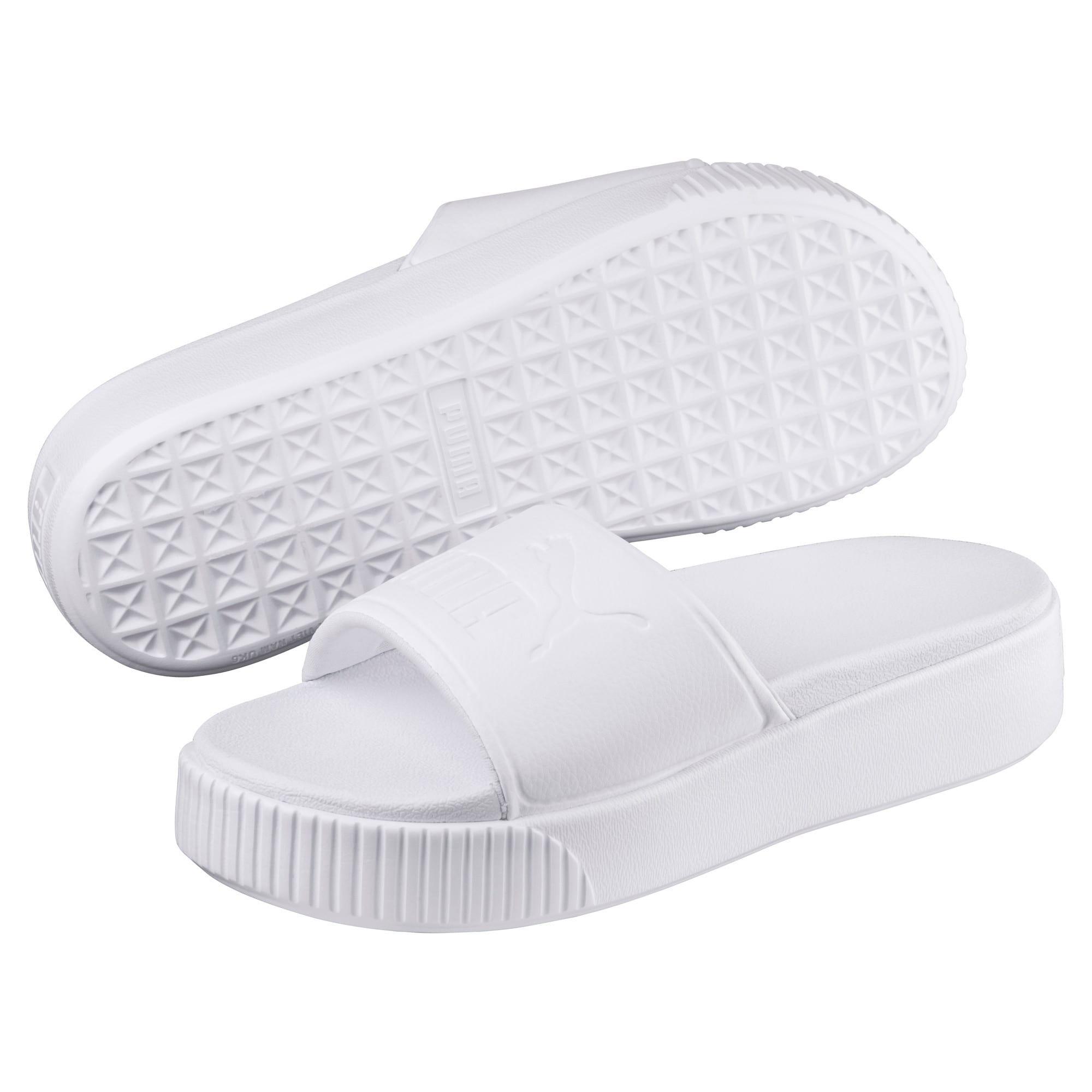 Thumbnail 2 of Platform Slide Bold Women's Sandals, Puma White-Puma White, medium-IND