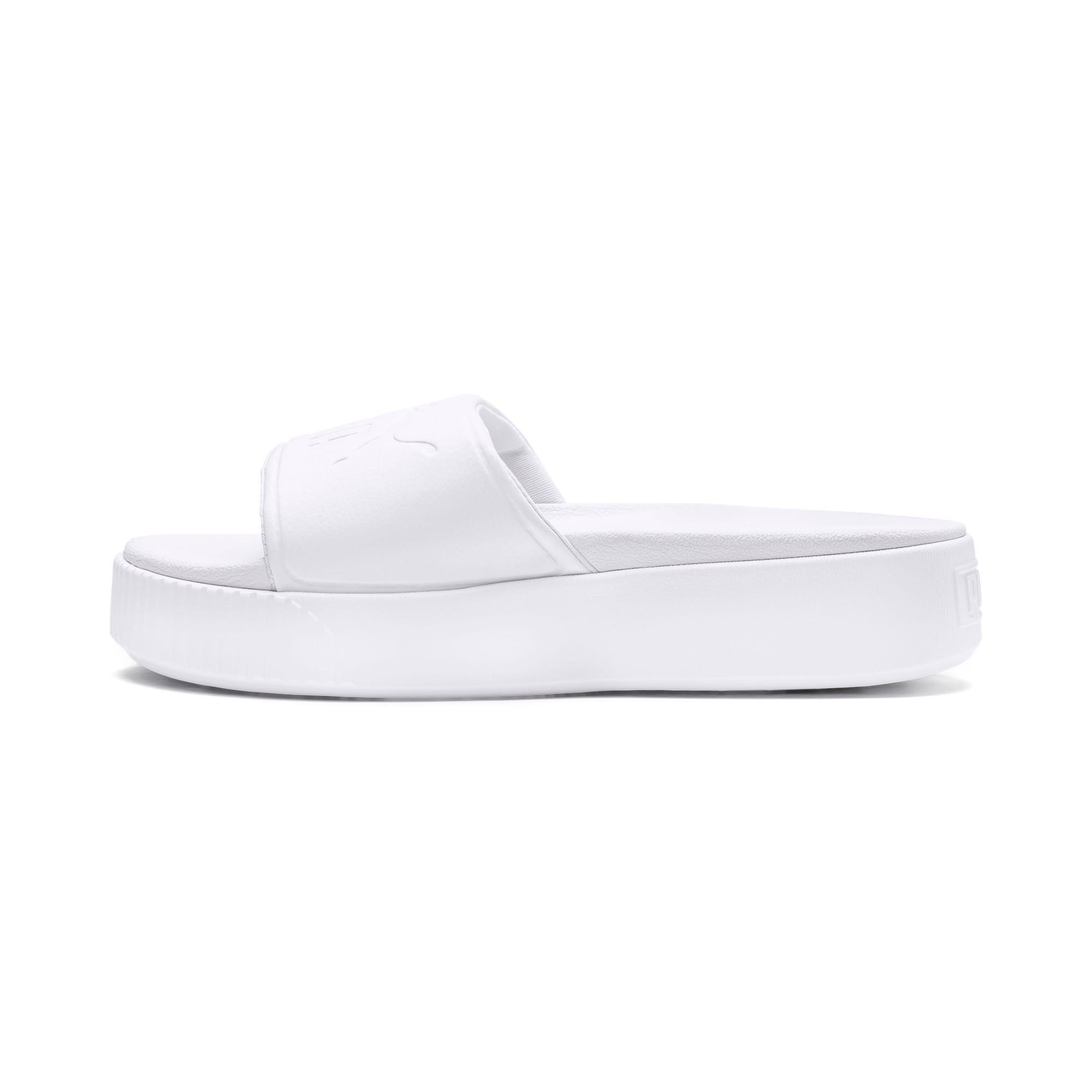 Thumbnail 1 of Platform Slide Bold Women's Sandals, Puma White-Puma White, medium-IND