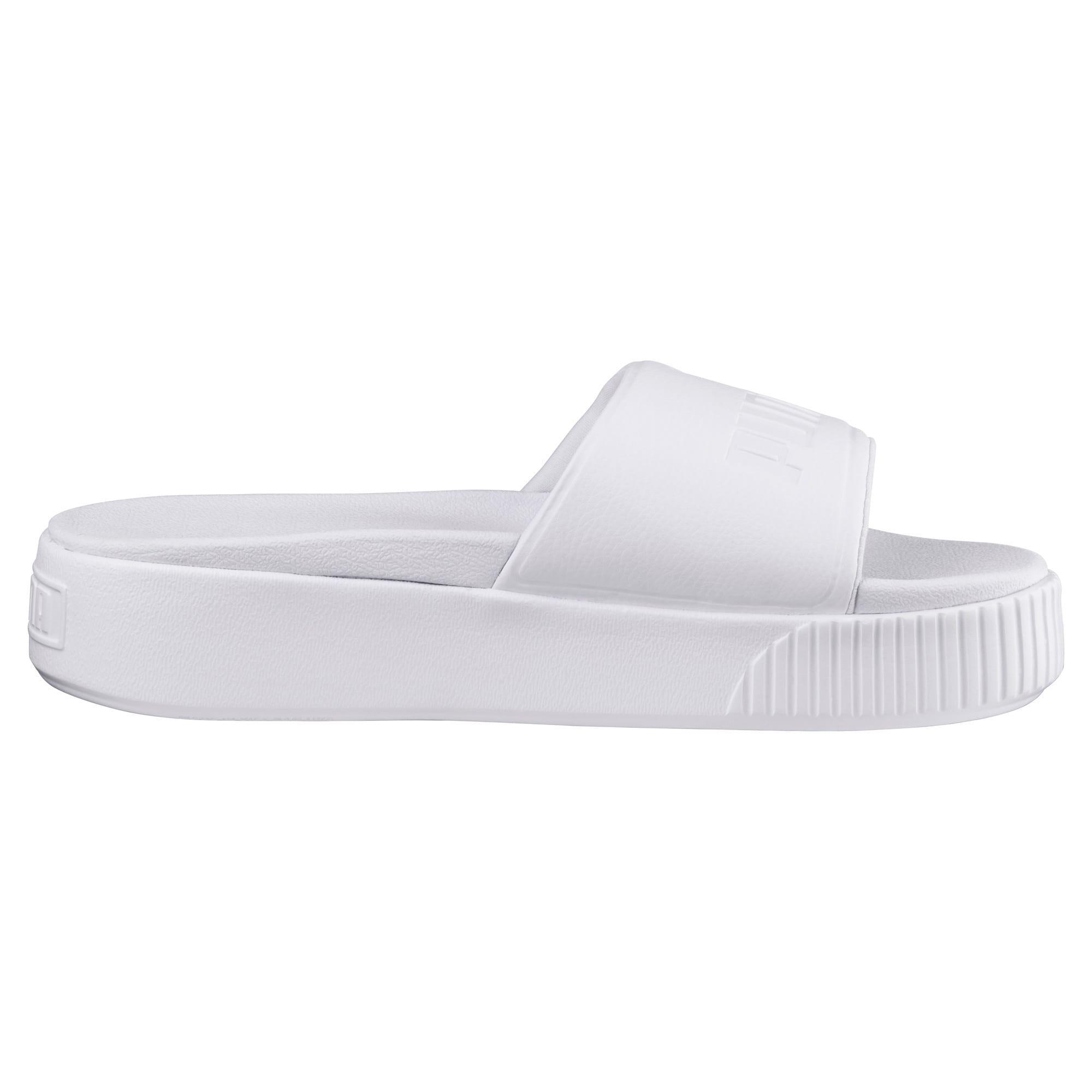 Thumbnail 4 of Platform Slide Bold Women's Sandals, Puma White-Puma White, medium-IND