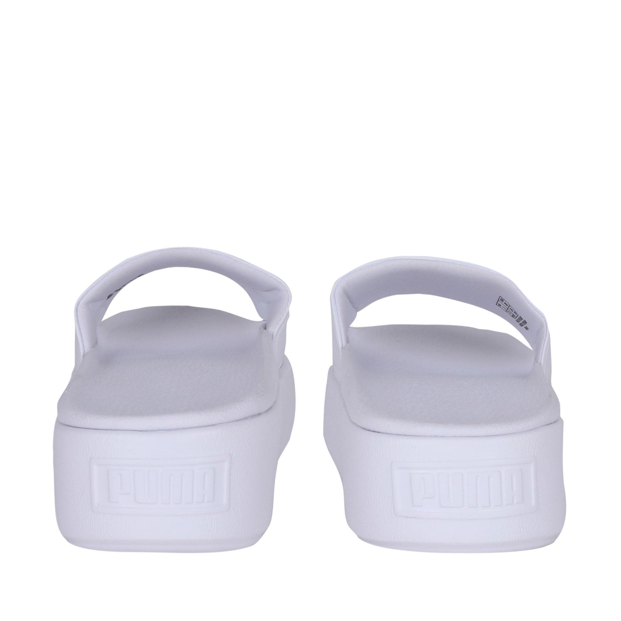 Thumbnail 6 of Platform Slide Bold Women's Sandals, Puma White-Puma White, medium-IND