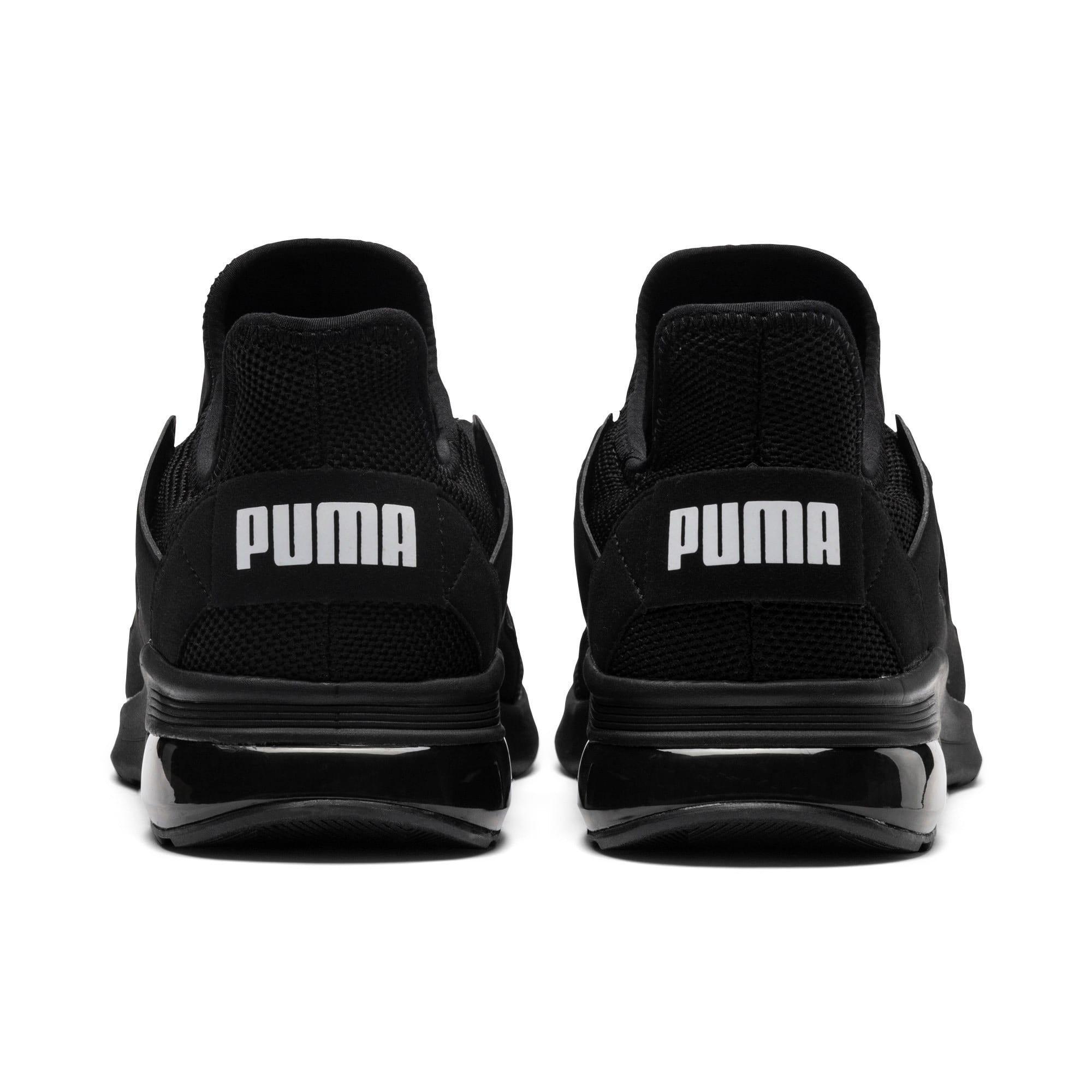 Thumbnail 4 of Electron Street Trainers, Puma Black-Puma Black-Black, medium-IND