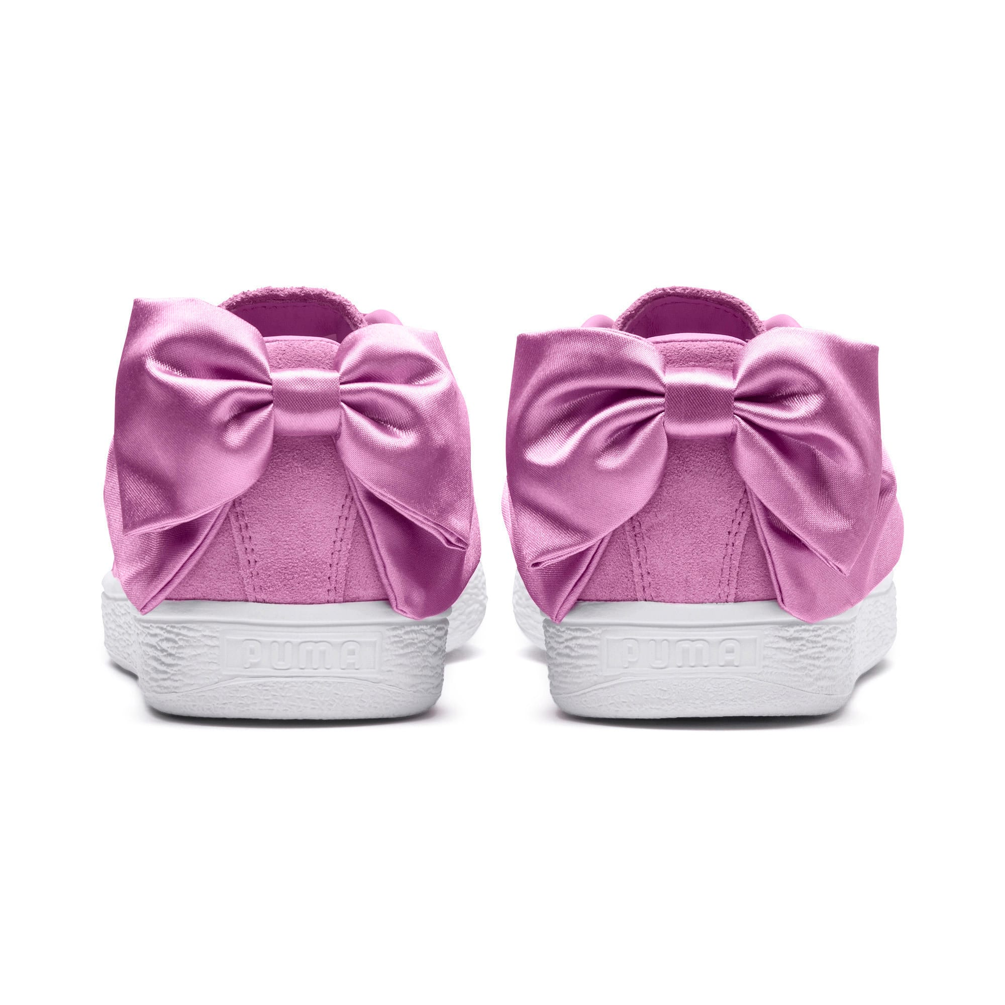 Thumbnail 3 of Suede Bow Girls' Trainers, Orchid-Orchid, medium-IND