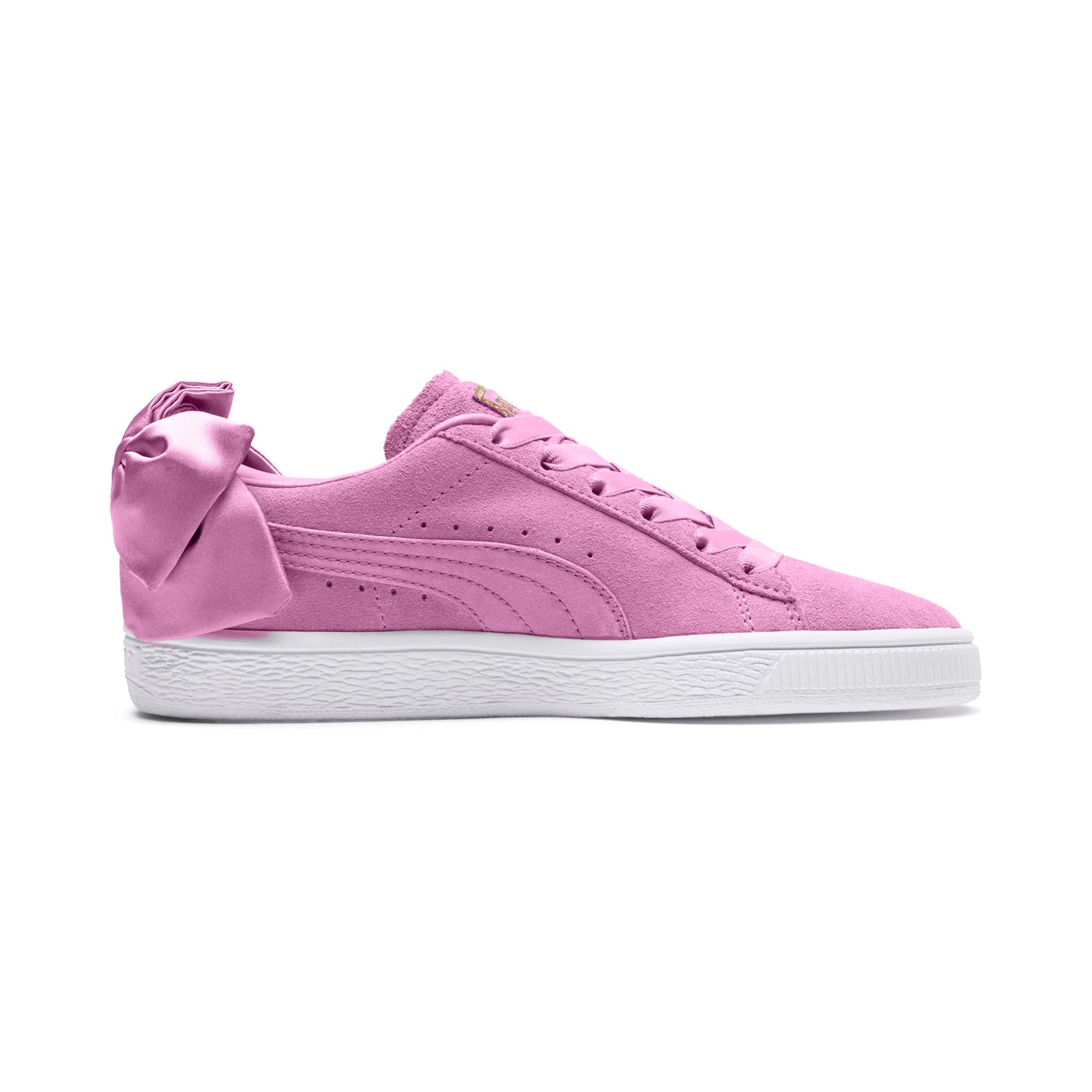 Thumbnail 5 of Suede Bow Girls' Trainers, Orchid-Orchid, medium-IND