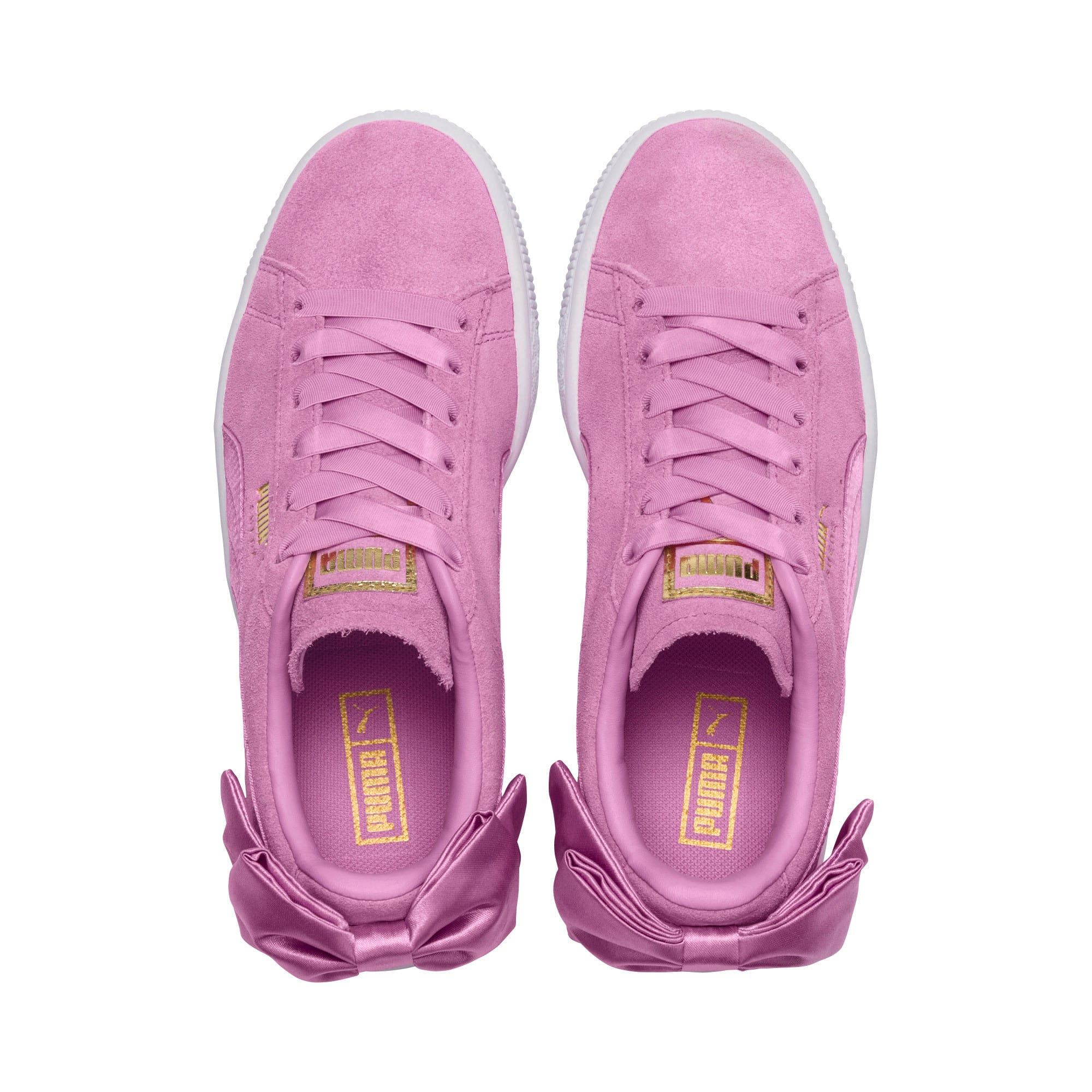 Thumbnail 6 of Suede Bow Girls' Trainers, Orchid-Orchid, medium-IND