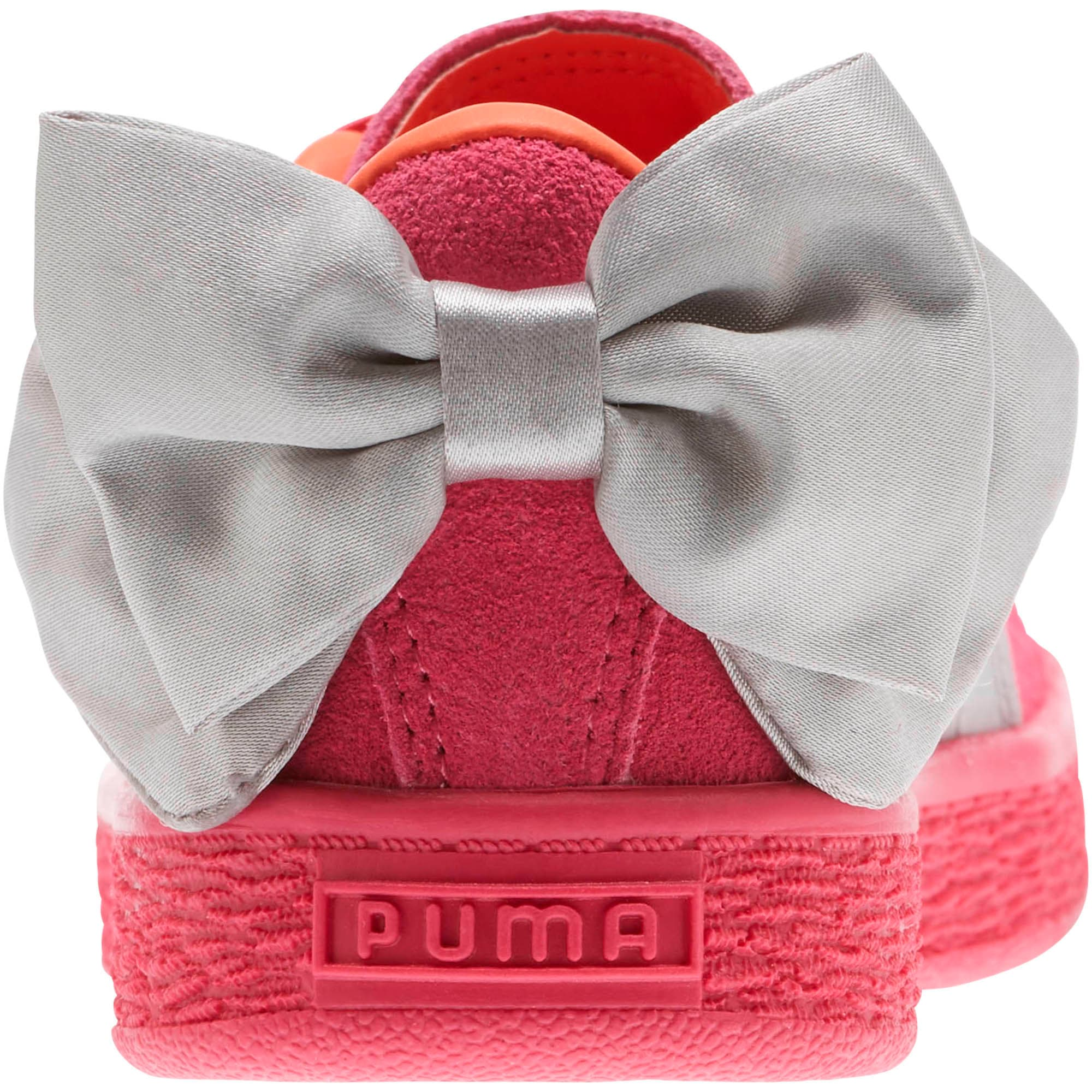 Miniatura 4 de Zapatos Suede Bow AC para niños pequeños, Fuchsia Purple-Nasturtium, mediano