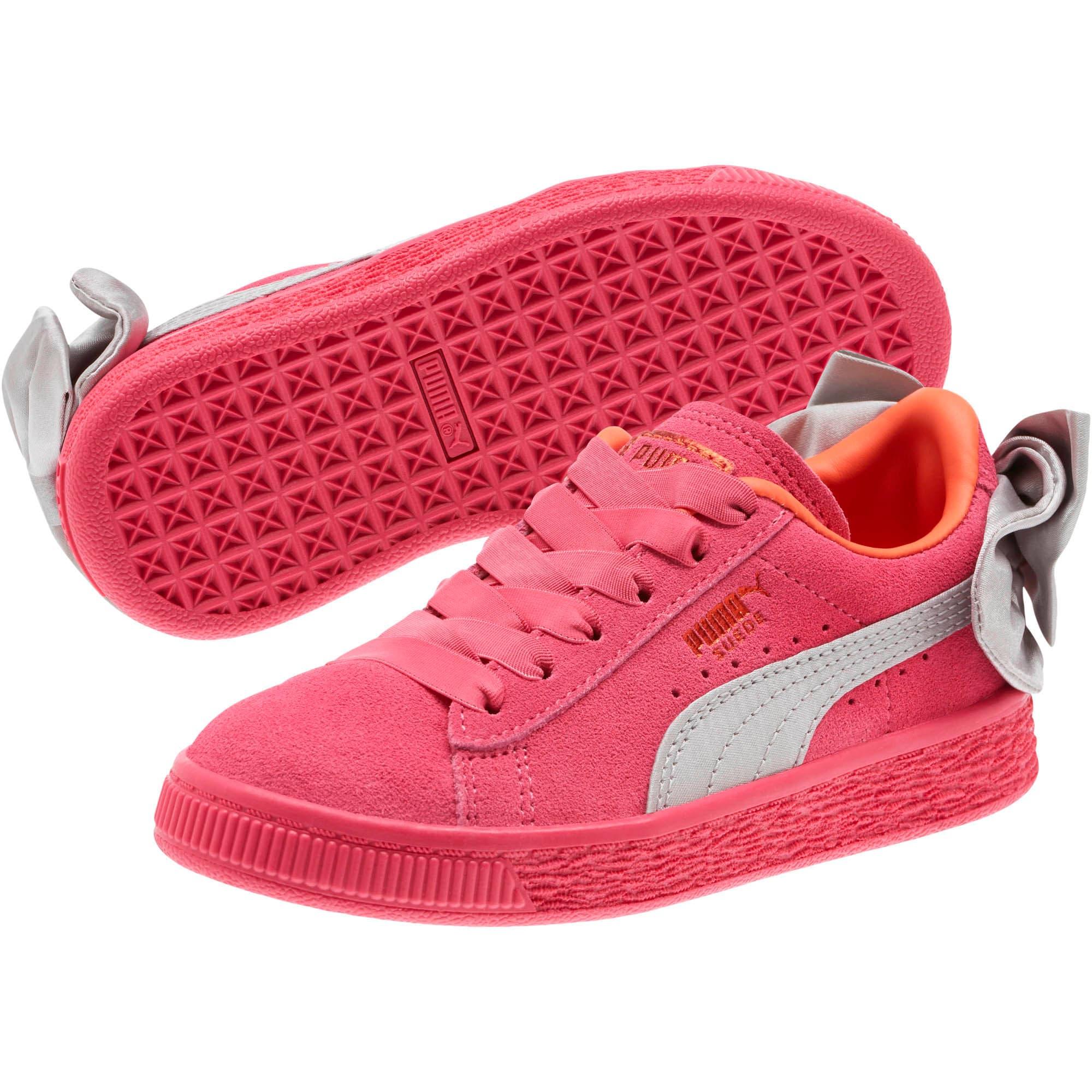 Miniatura 2 de Zapatos Suede Bow AC para niños pequeños, Fuchsia Purple-Nasturtium, mediano