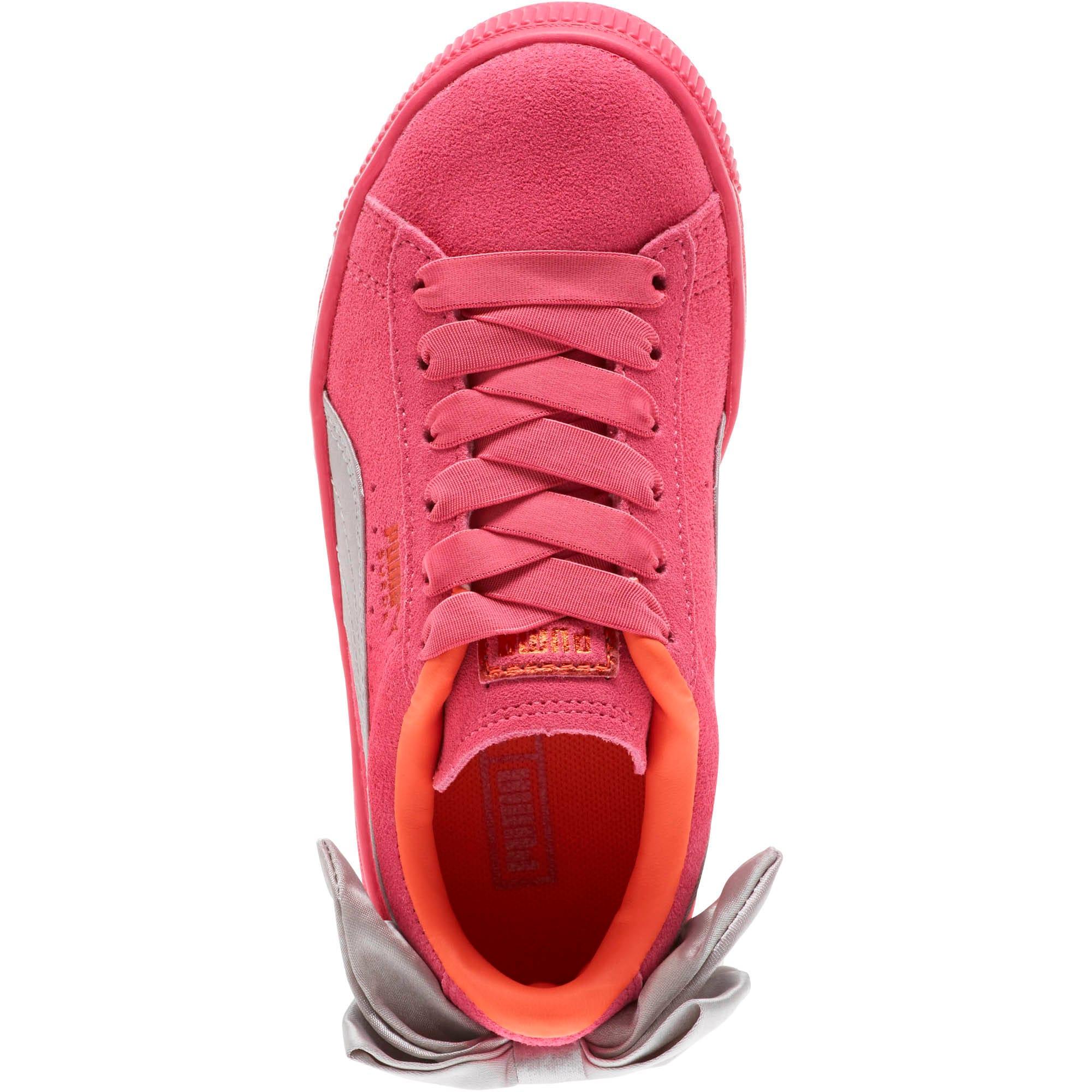 Miniatura 5 de Zapatos Suede Bow AC para niños pequeños, Fuchsia Purple-Nasturtium, mediano