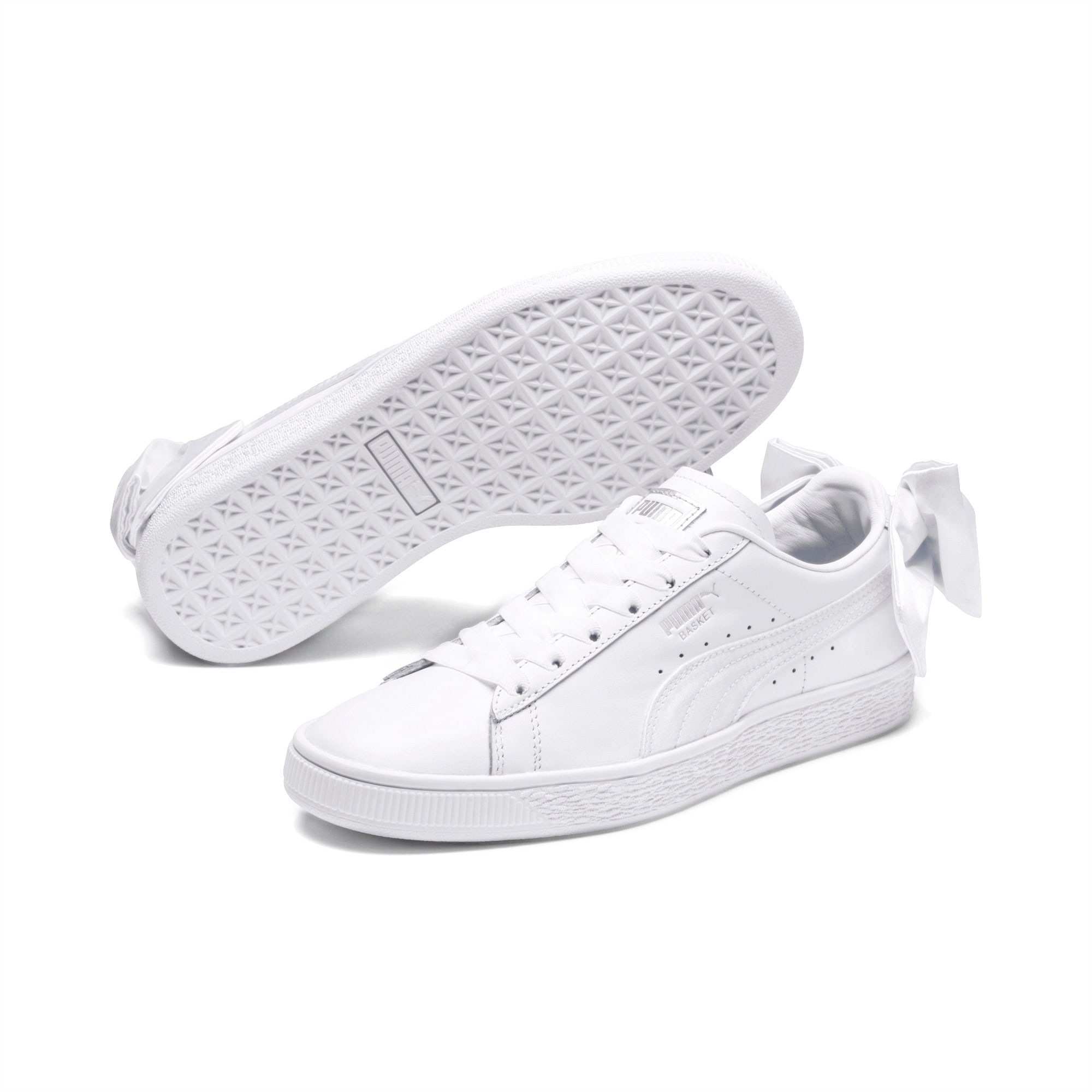 Puma Basket Bow Sneaker Schuhe Damen Schleife Weiß 367319 01