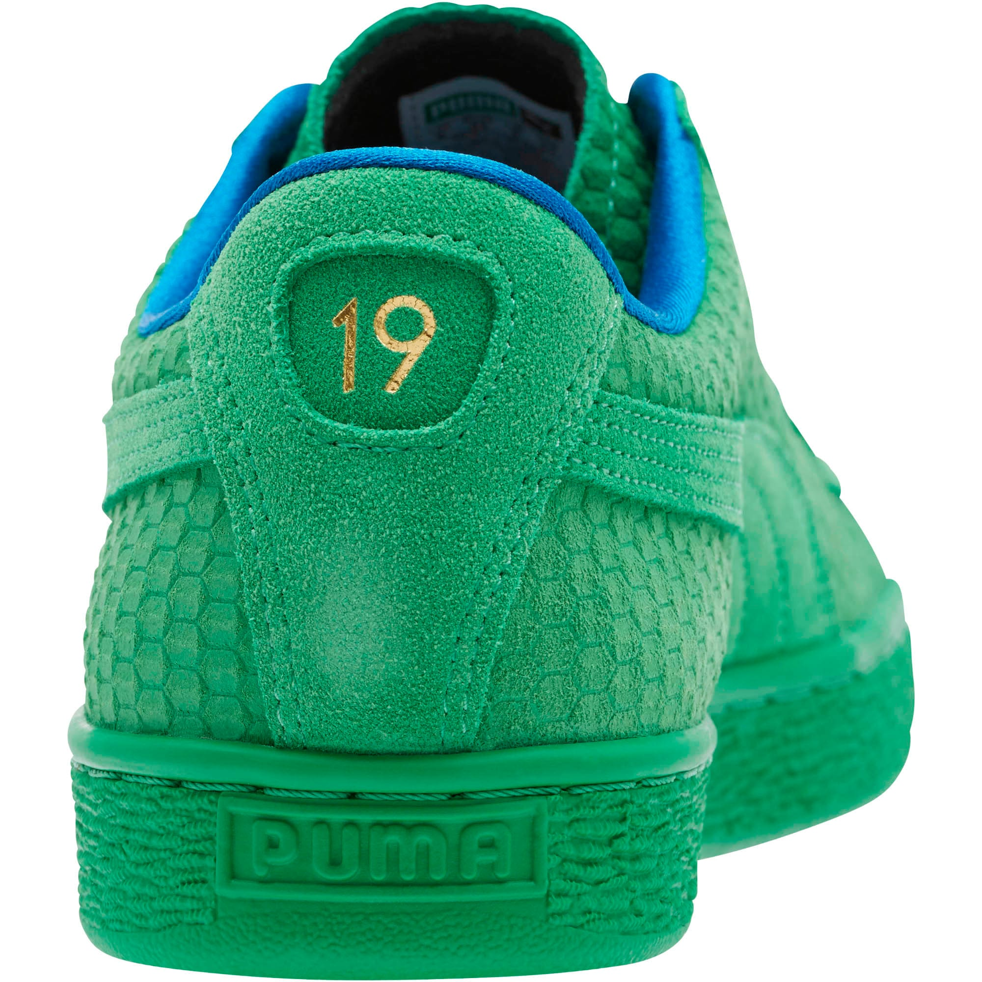 Thumbnail 4 of Suede Classic Archive AOP Sneakers, Kelly Green-Puma Team Gold, medium
