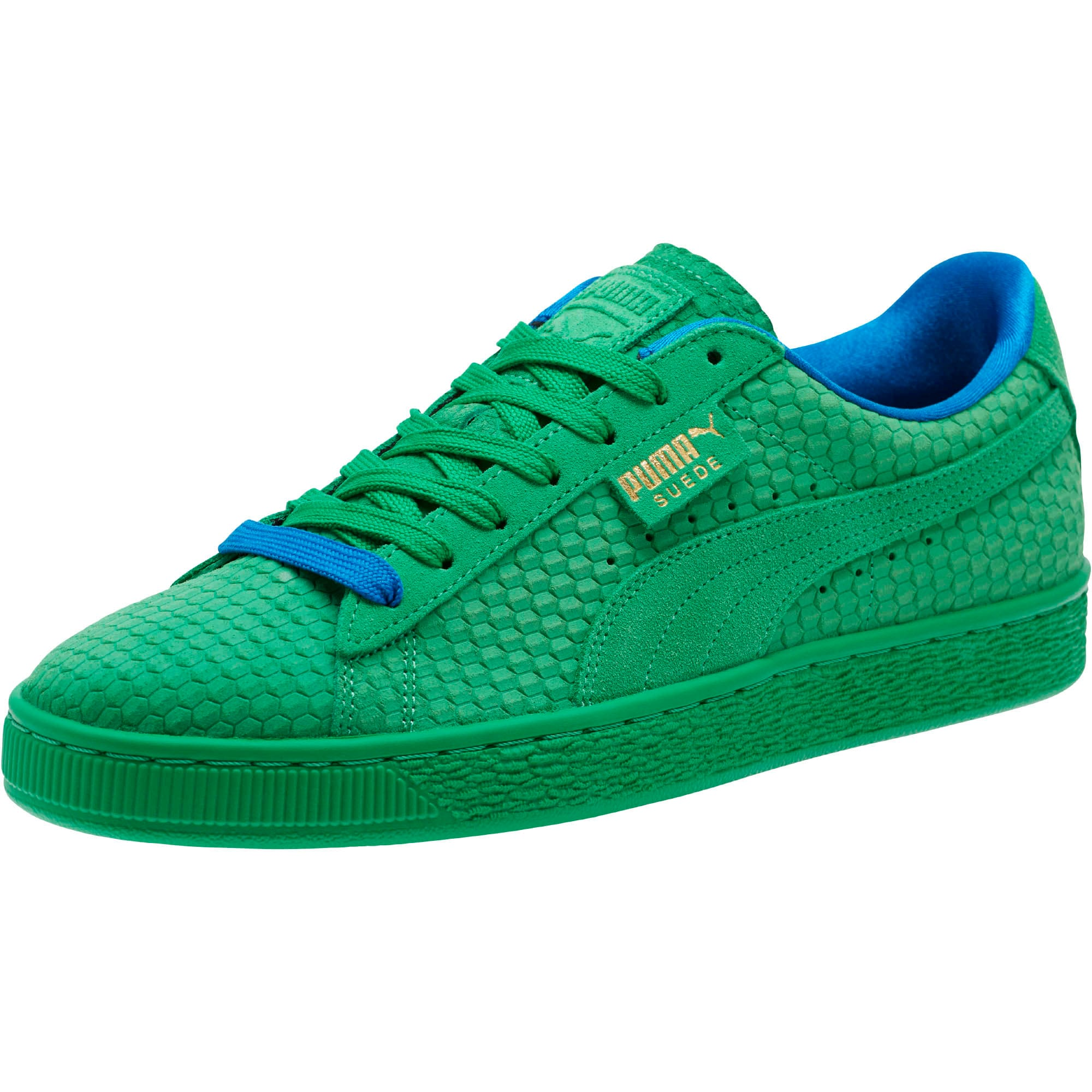 Thumbnail 1 of Suede Classic Archive AOP Sneakers, Kelly Green-Puma Team Gold, medium