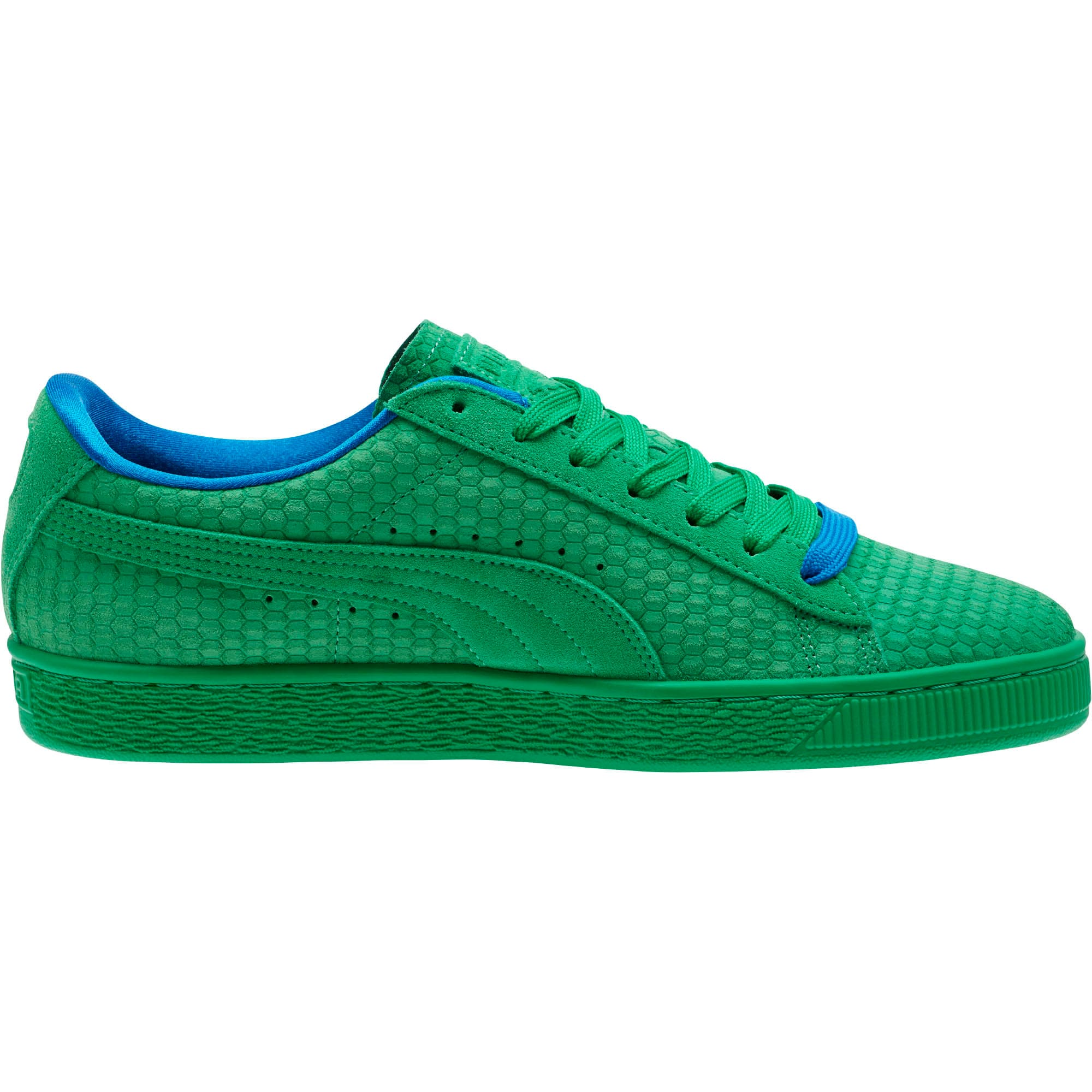 Thumbnail 3 of Suede Classic Archive AOP Sneakers, Kelly Green-Puma Team Gold, medium