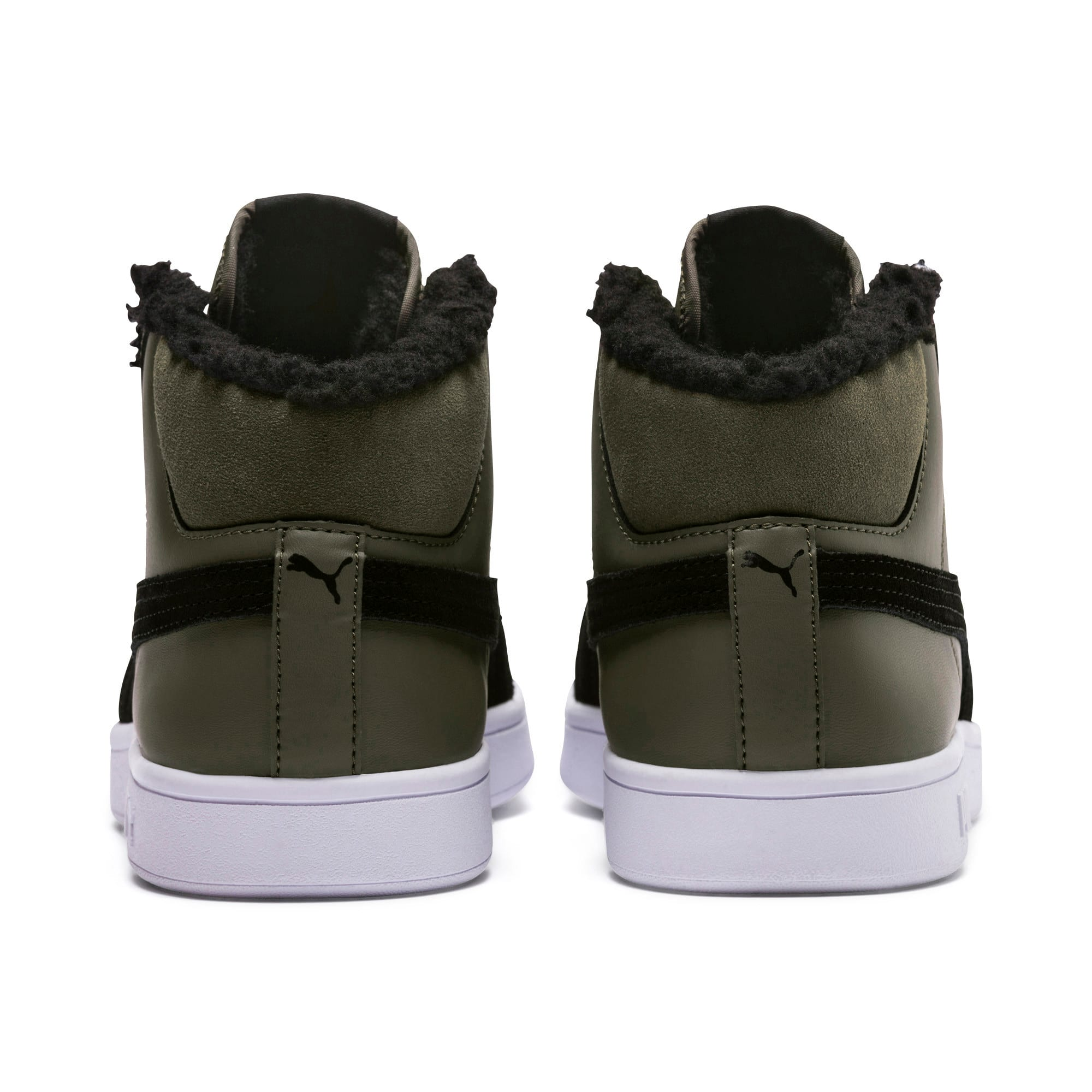 Thumbnail 4 of Smash v2 Mid Winterized Leather High Tops, Forest Night-Puma Black, medium-IND