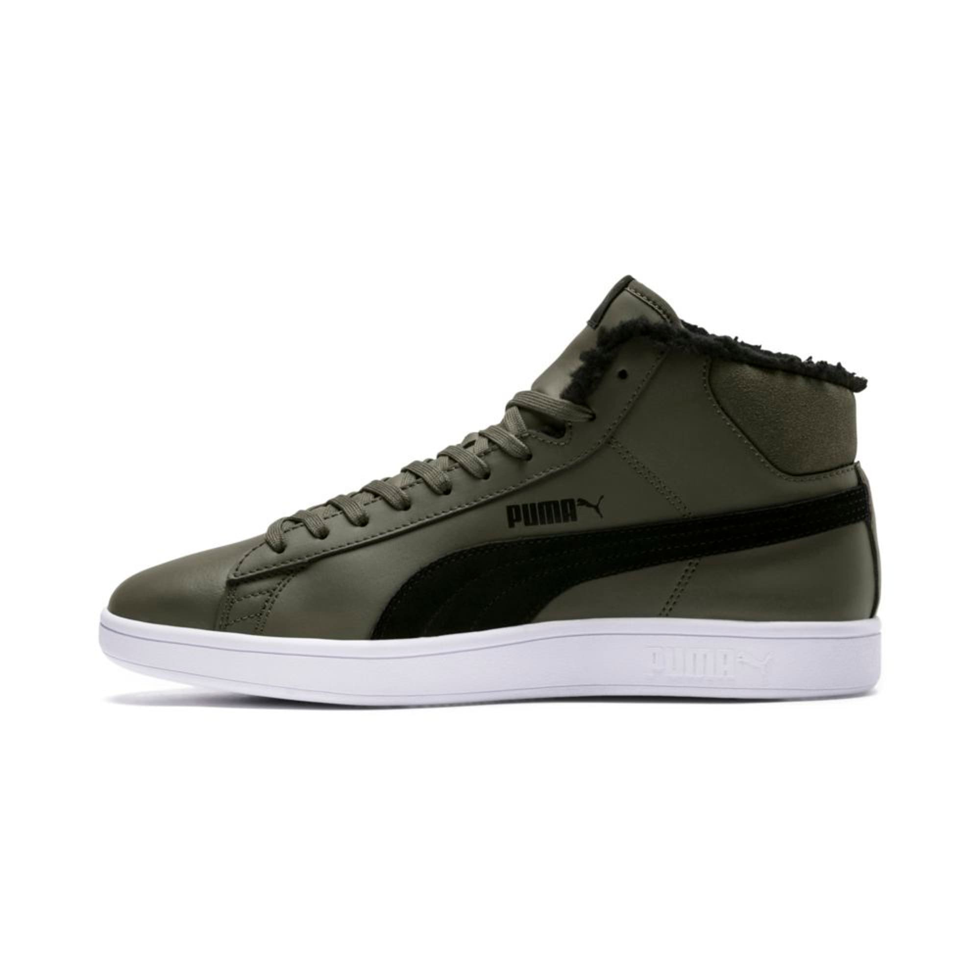 Thumbnail 1 of Smash v2 Mid Winterized Leather High Tops, Forest Night-Puma Black, medium-IND