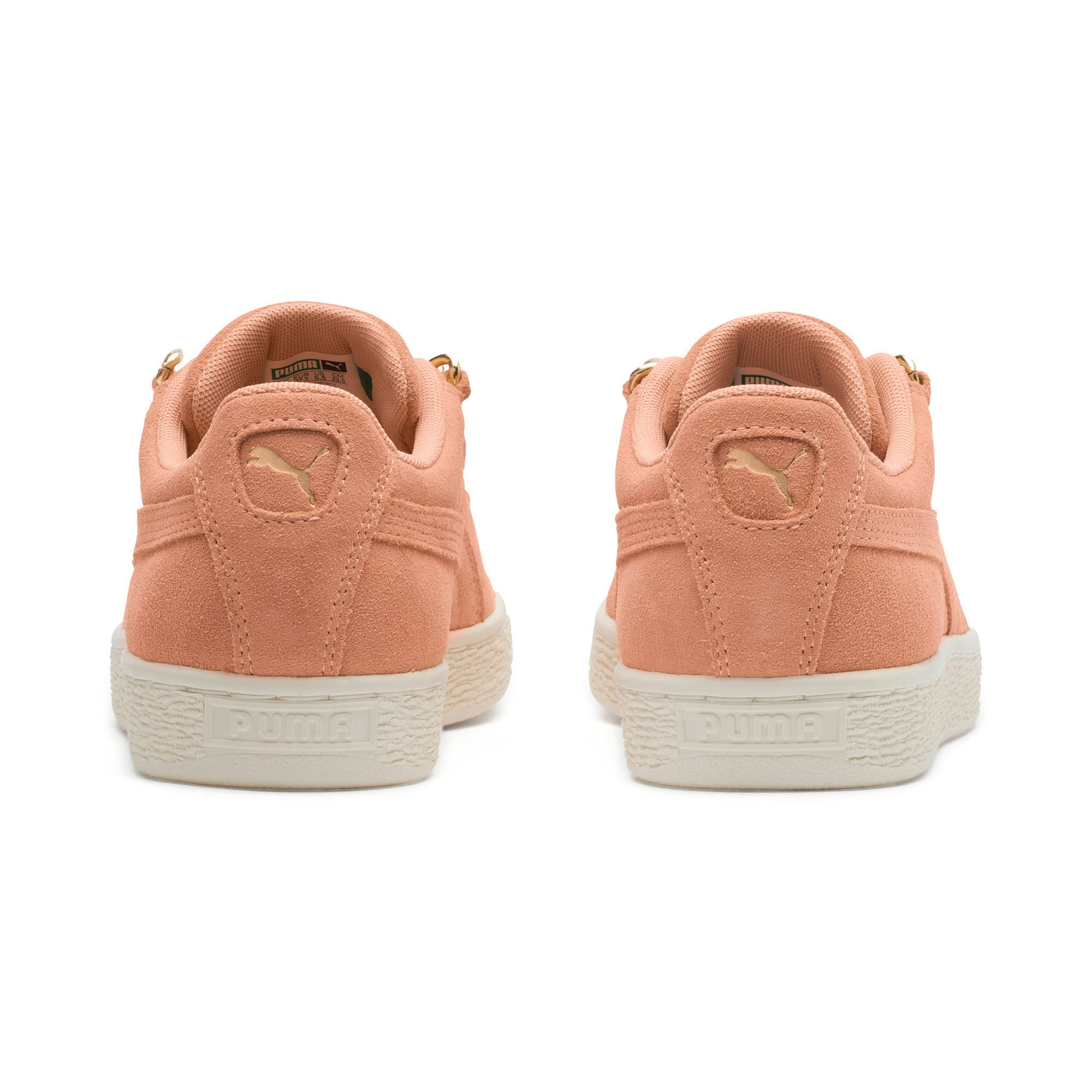 Thumbnail 3 of Suede Classic Chains Women's Trainers, Dusty Coral-Puma Team Gold, medium-IND