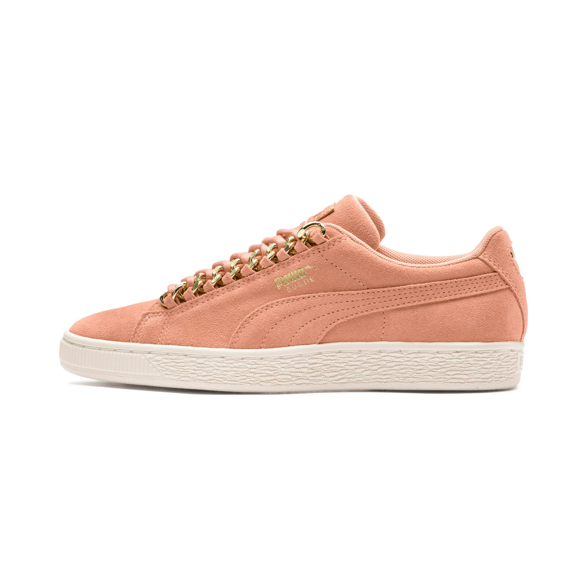 Thumbnail 1 of Suede Classic Chains Women's Trainers, Dusty Coral-Puma Team Gold, medium-IND