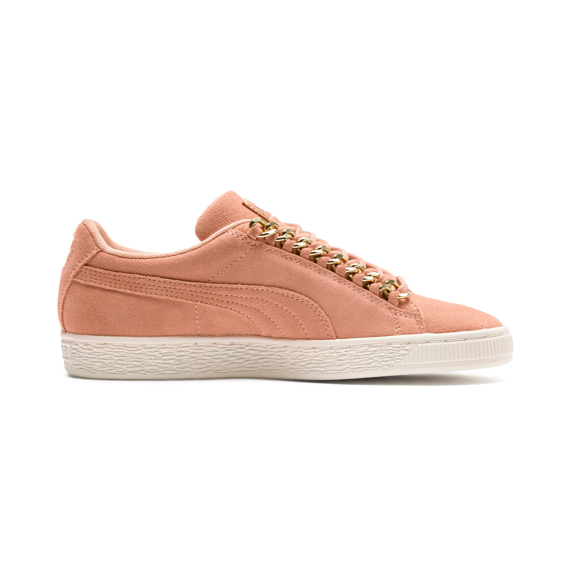 Thumbnail 5 of Suede Classic Chains Women's Trainers, Dusty Coral-Puma Team Gold, medium-IND