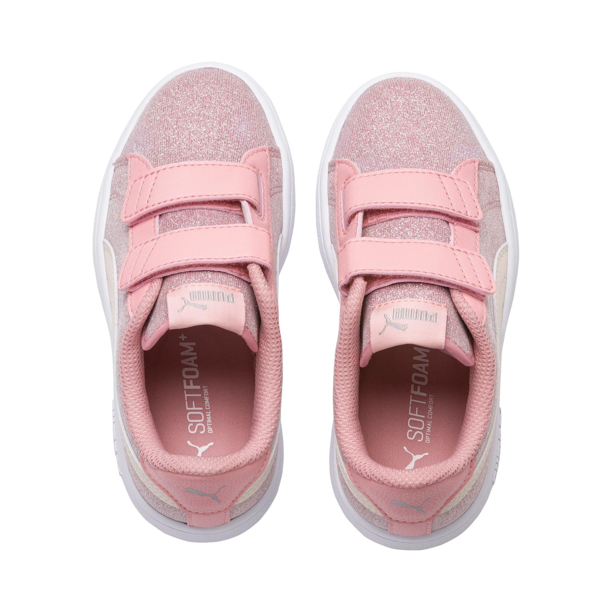 Thumbnail 6 of PUMA Smash v2 Glitz Glam Kids Mädchen Sneaker, B Rose-P Parchment-Silv-Wht, medium