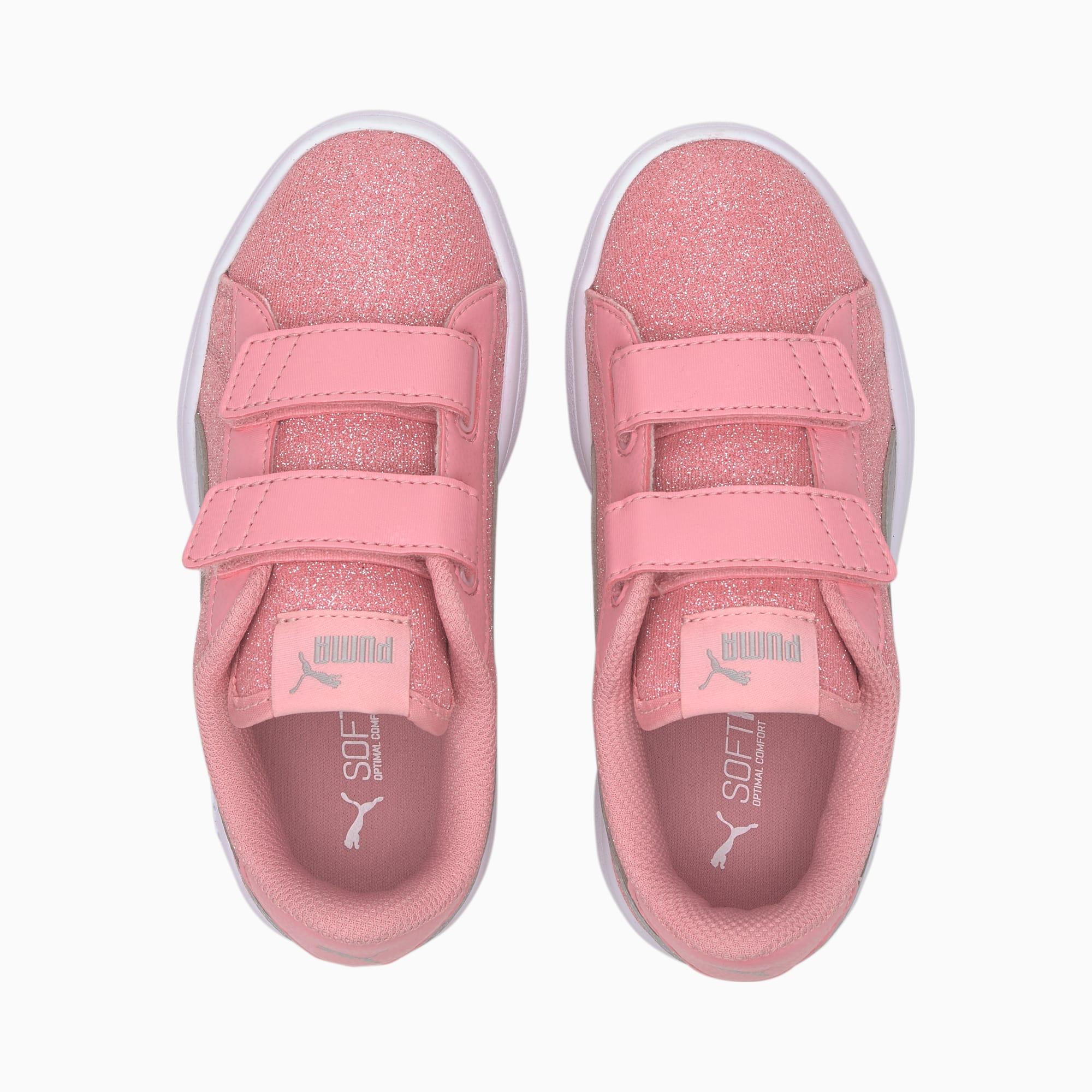 Smash V2 Glam Pour Basket Glitz Puma Fille Petite Chaussure